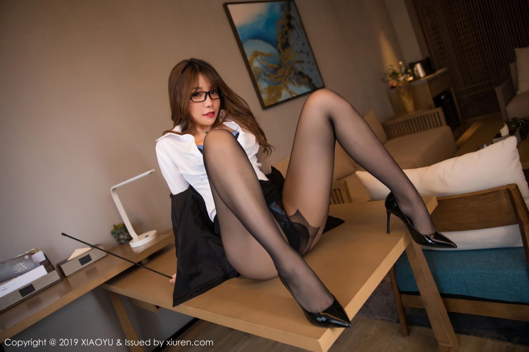 [XiaoYu] Vol.095 Chen Zhi 27P, Big Booty, Black Silk, Chen Zhi, Uniform, XiaoYu