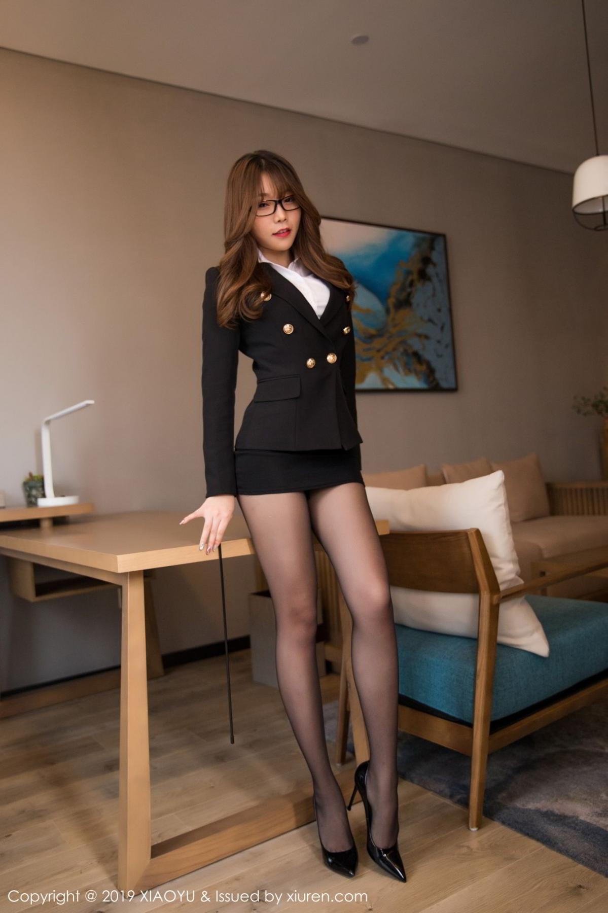 [XiaoYu] Vol.095 Chen Zhi 2P, Big Booty, Black Silk, Chen Zhi, Uniform, XiaoYu