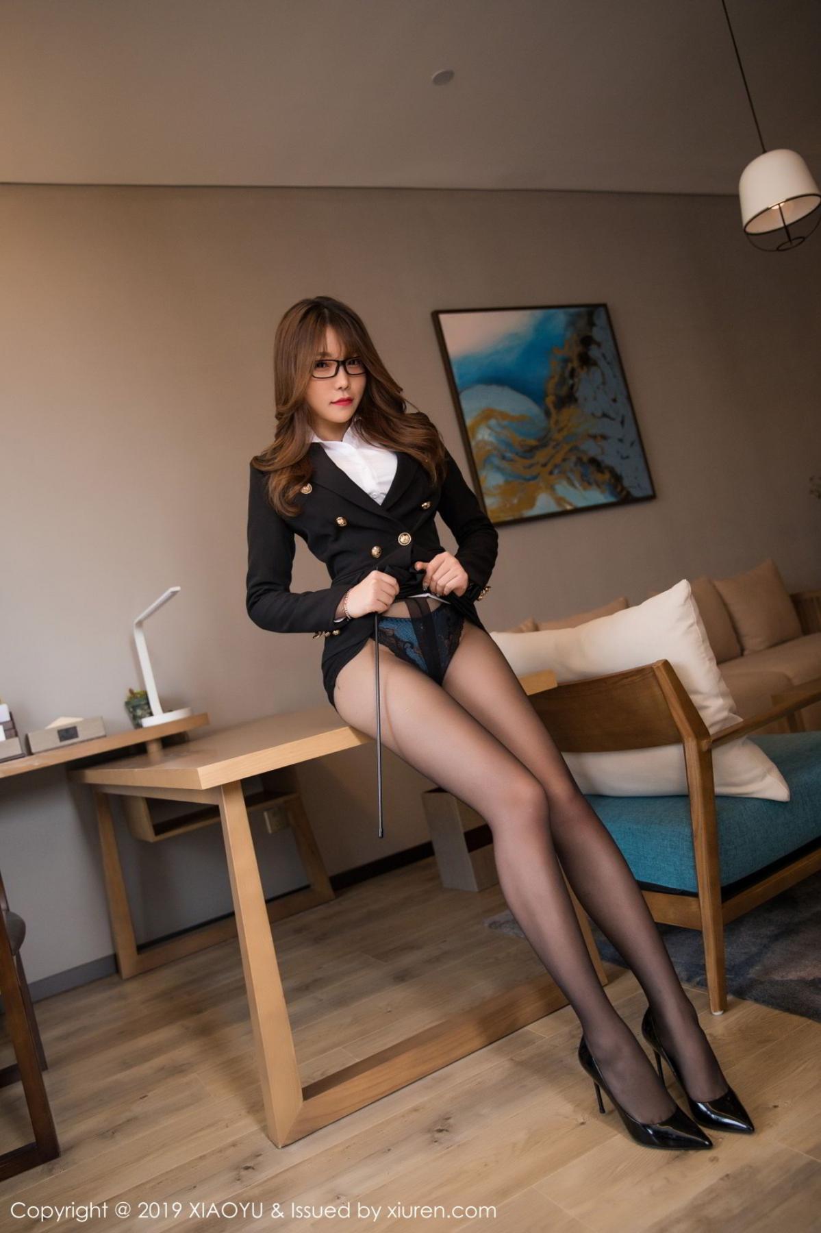 [XiaoYu] Vol.095 Chen Zhi 4P, Big Booty, Black Silk, Chen Zhi, Uniform, XiaoYu