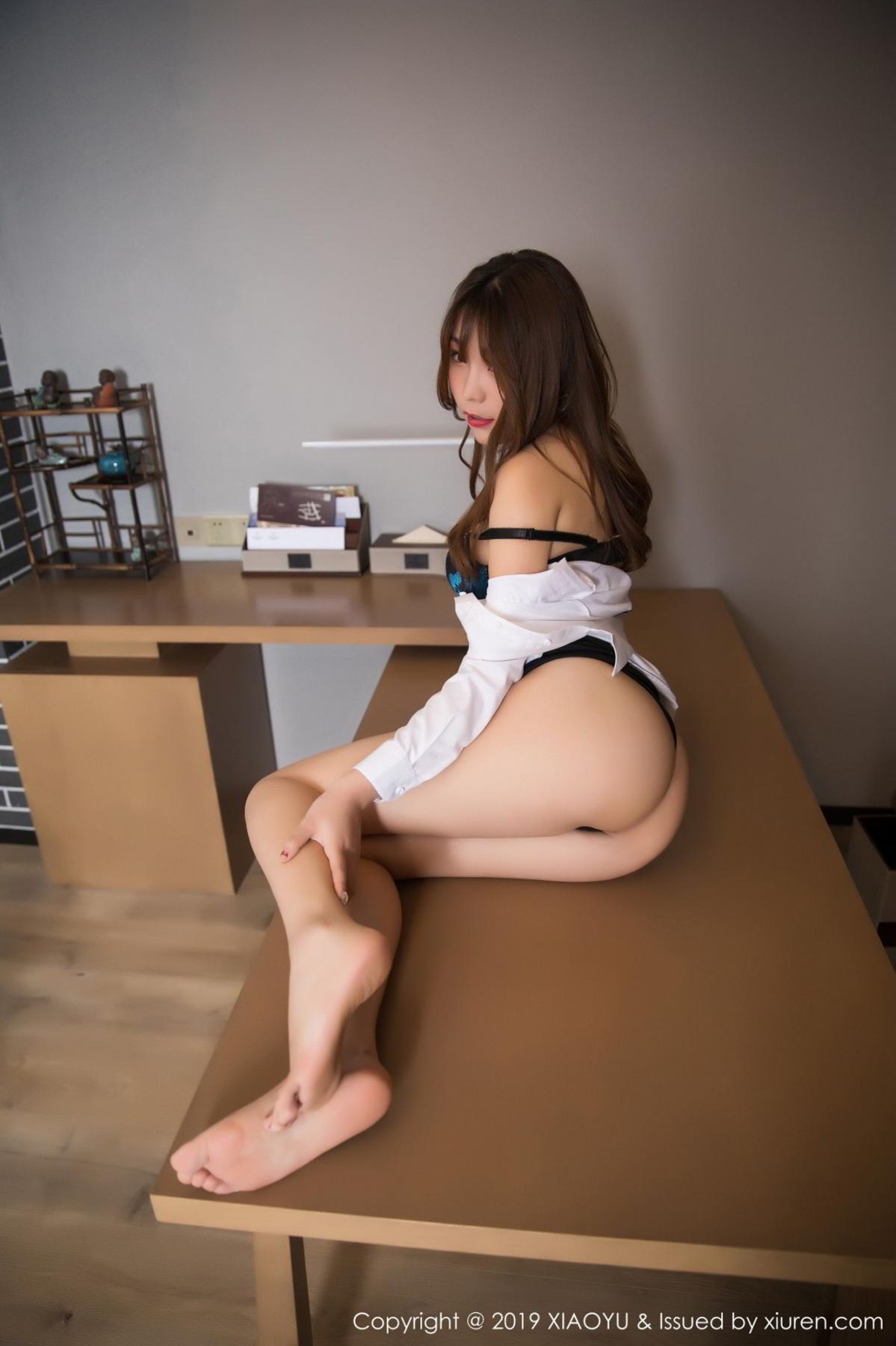 [XiaoYu] Vol.095 Chen Zhi 59P, Big Booty, Black Silk, Chen Zhi, Uniform, XiaoYu