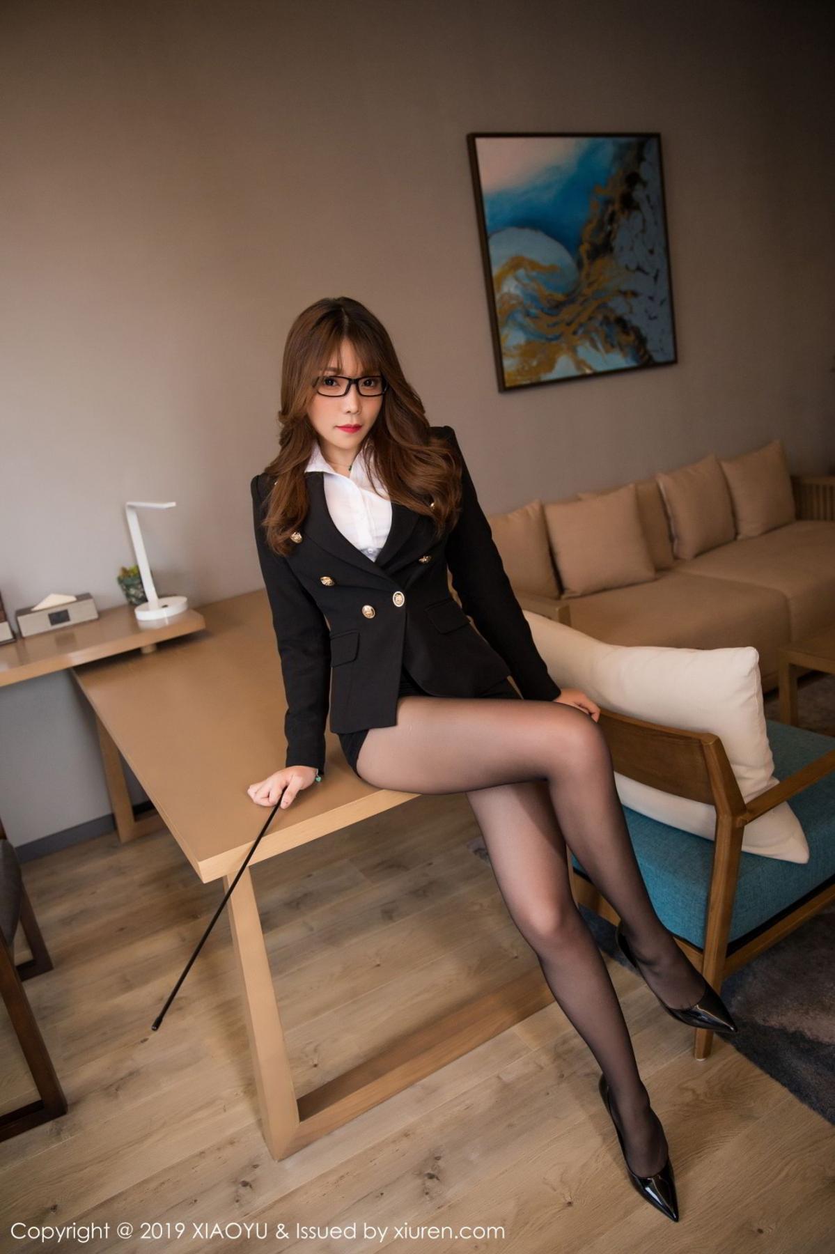 [XiaoYu] Vol.095 Chen Zhi 9P, Big Booty, Black Silk, Chen Zhi, Uniform, XiaoYu