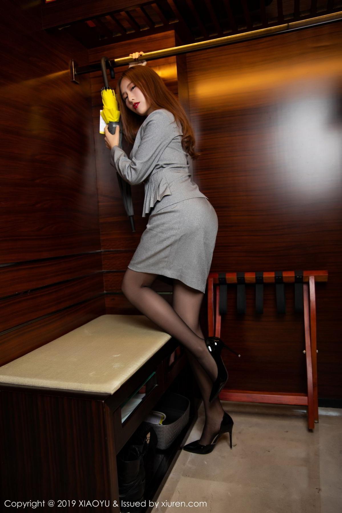 [XiaoYu] Vol.096 Yue Yin Tong 13P, Black Silk, Uniform, XiaoYu, Yue Yin Tong