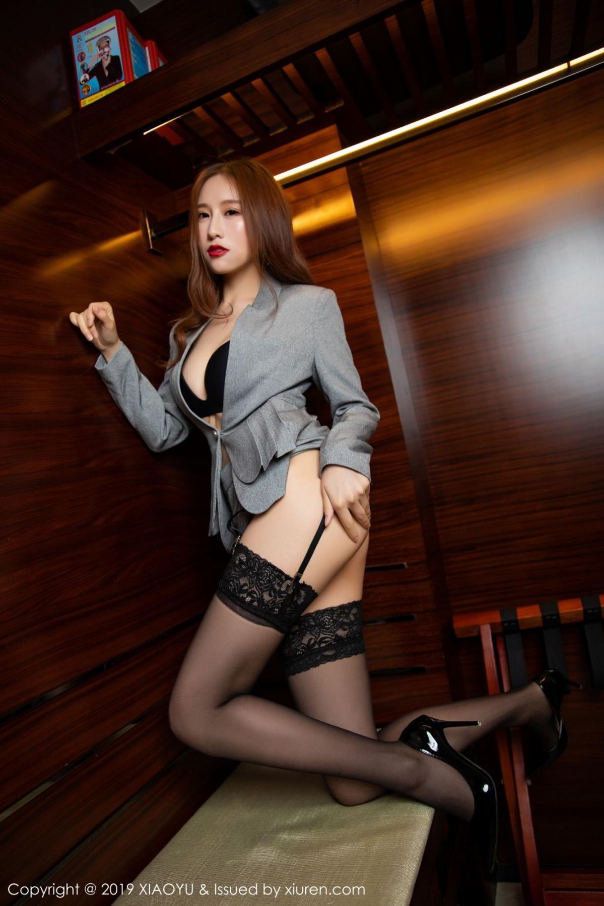 [XiaoYu] Vol.096 Yue Yin Tong 22P, Black Silk, Uniform, XiaoYu, Yue Yin Tong