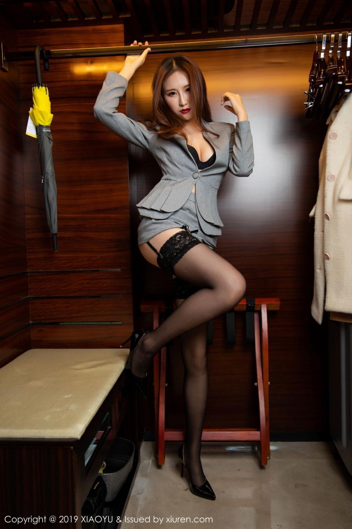 [XiaoYu] Vol.096 Yue Yin Tong 27P, Black Silk, Uniform, XiaoYu, Yue Yin Tong
