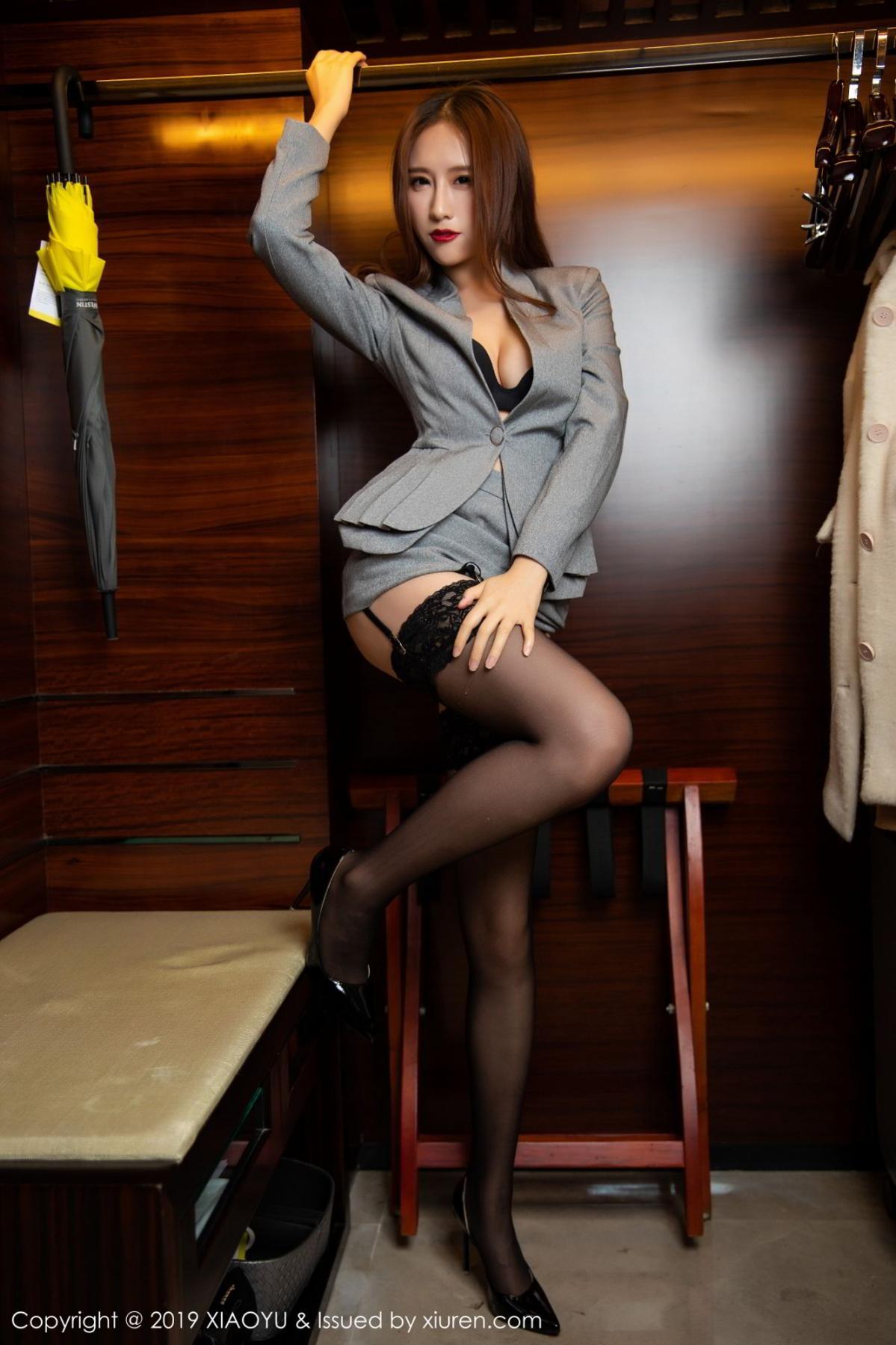 [XiaoYu] Vol.096 Yue Yin Tong 28P, Black Silk, Uniform, XiaoYu, Yue Yin Tong