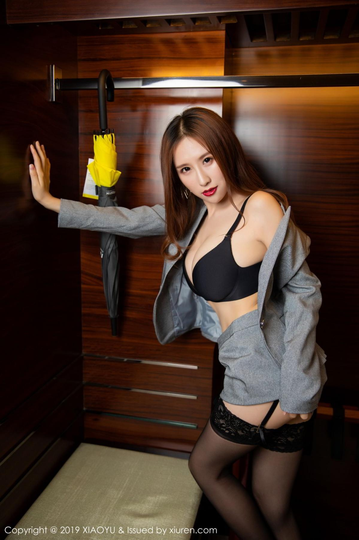 [XiaoYu] Vol.096 Yue Yin Tong 42P, Black Silk, Uniform, XiaoYu, Yue Yin Tong