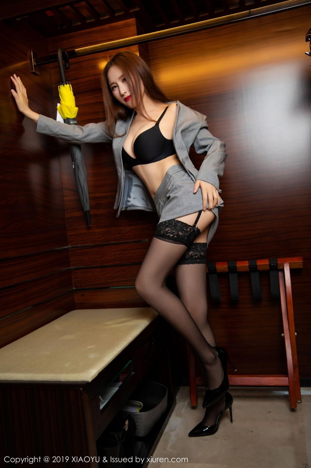 [XiaoYu] Vol.096 Yue Yin Tong 45P, Black Silk, Uniform, XiaoYu, Yue Yin Tong