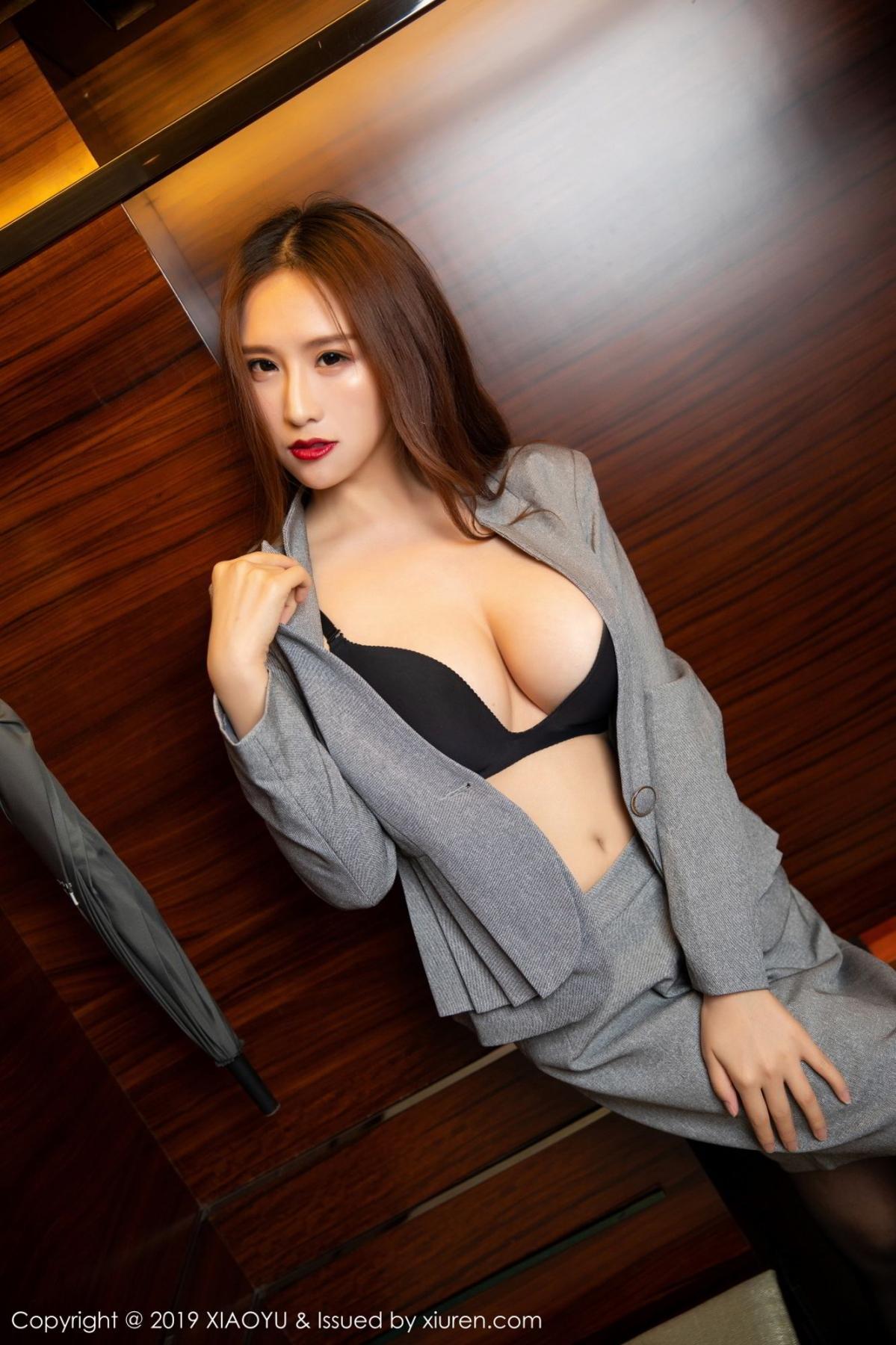 [XiaoYu] Vol.096 Yue Yin Tong 48P, Black Silk, Uniform, XiaoYu, Yue Yin Tong