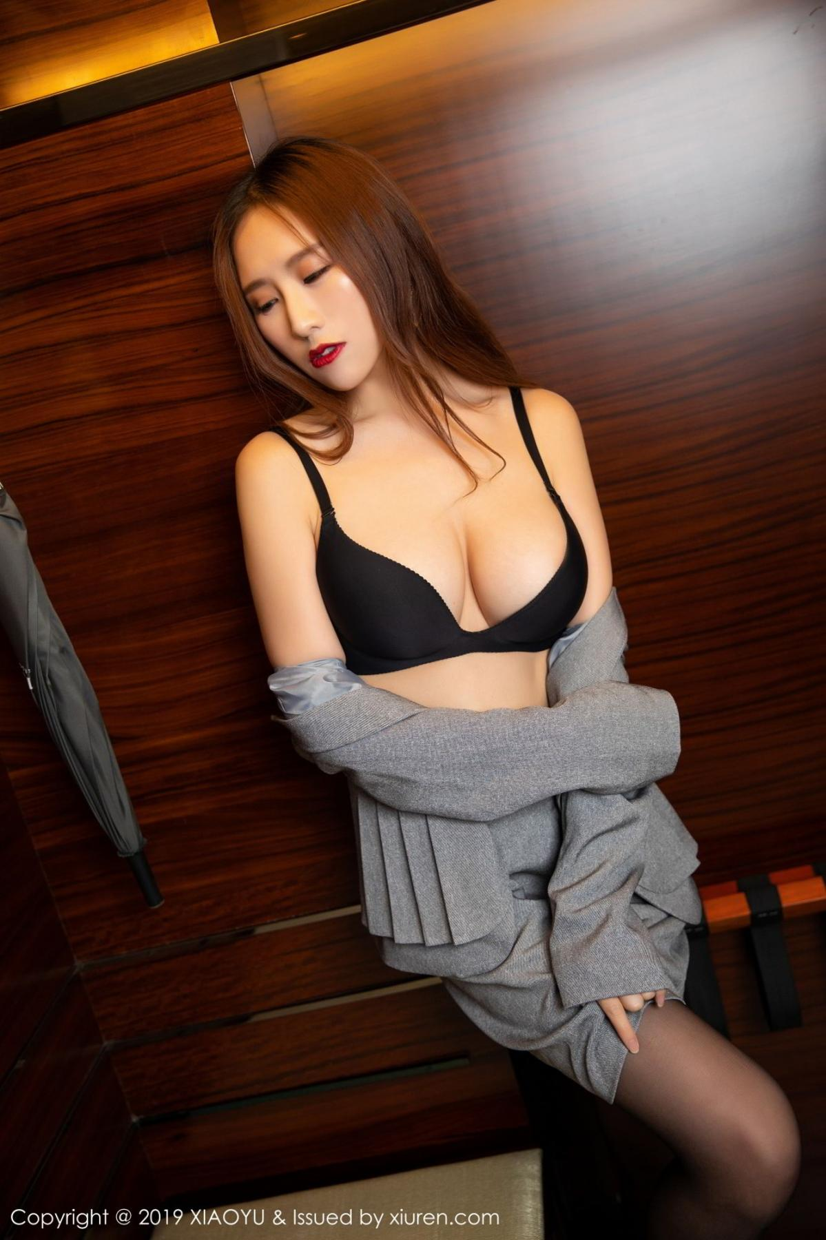 [XiaoYu] Vol.096 Yue Yin Tong 52P, Black Silk, Uniform, XiaoYu, Yue Yin Tong