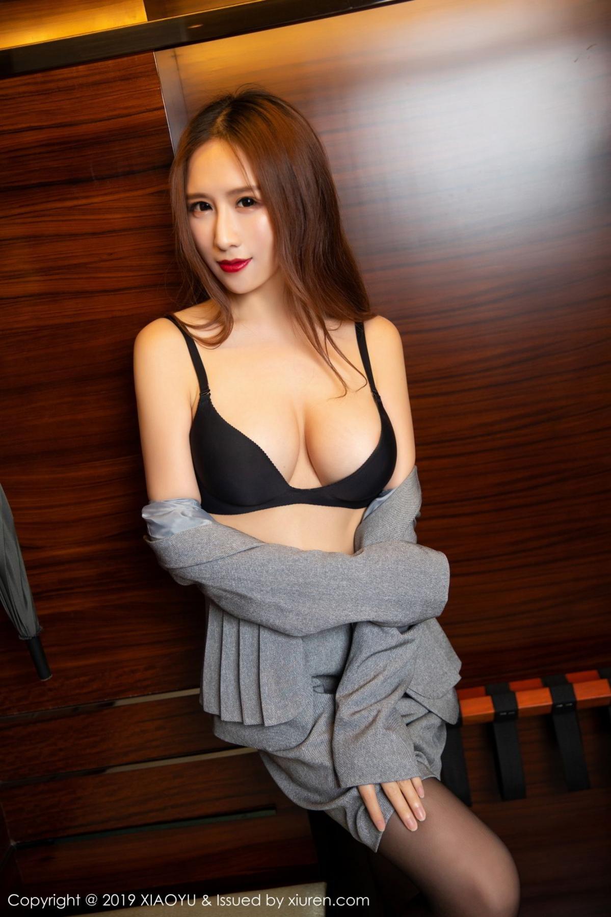 [XiaoYu] Vol.096 Yue Yin Tong 53P, Black Silk, Uniform, XiaoYu, Yue Yin Tong