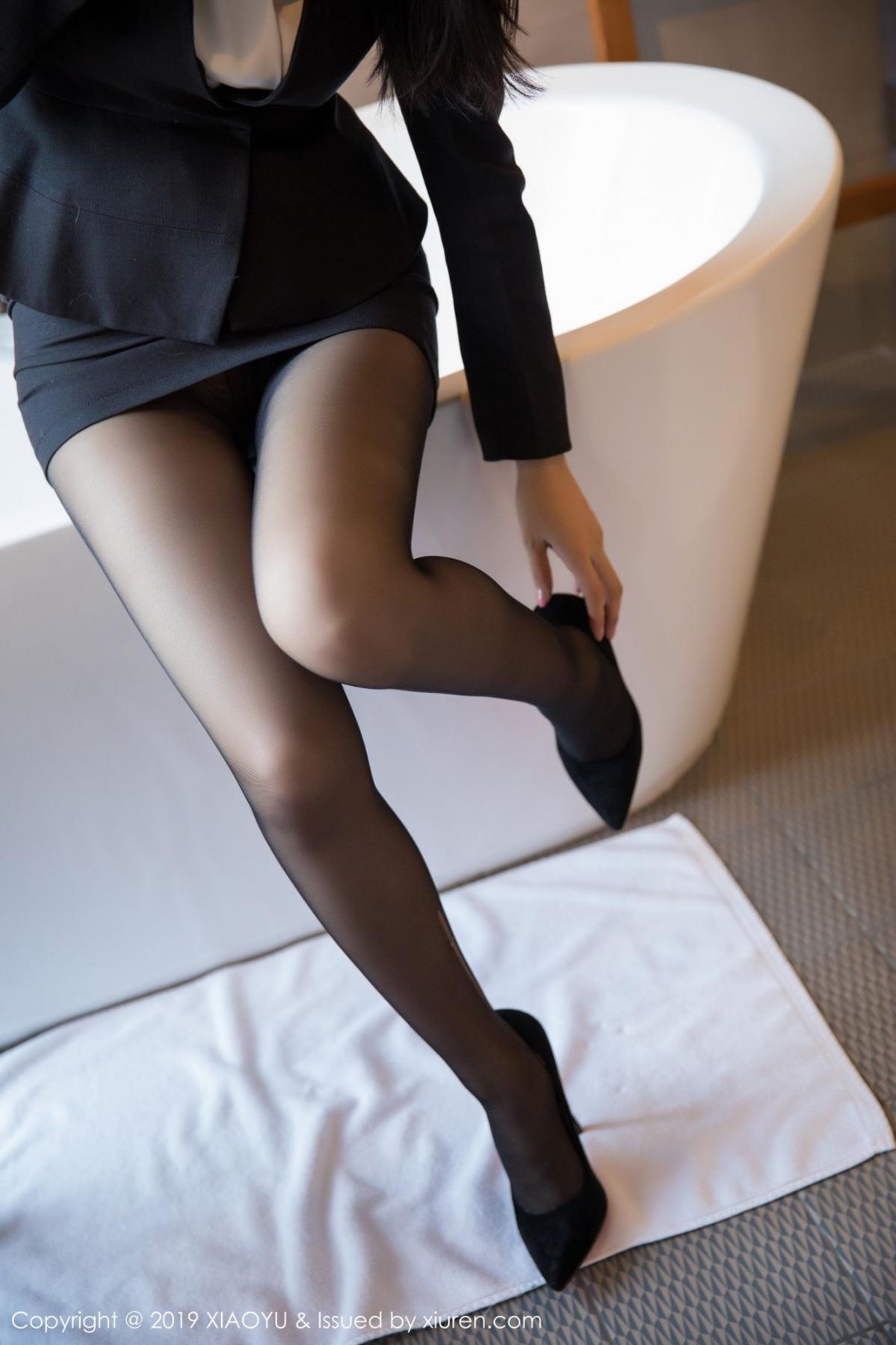 [XiaoYu] Vol.098 Di Yi 11P, Black Silk, Di Yi, Uniform, XiaoYu