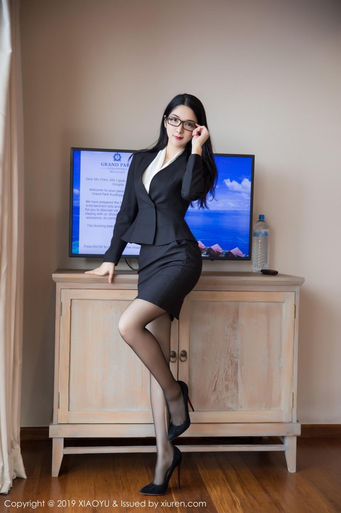 [XiaoYu] Vol.098 Di Yi 1P, Black Silk, Di Yi, Uniform, XiaoYu