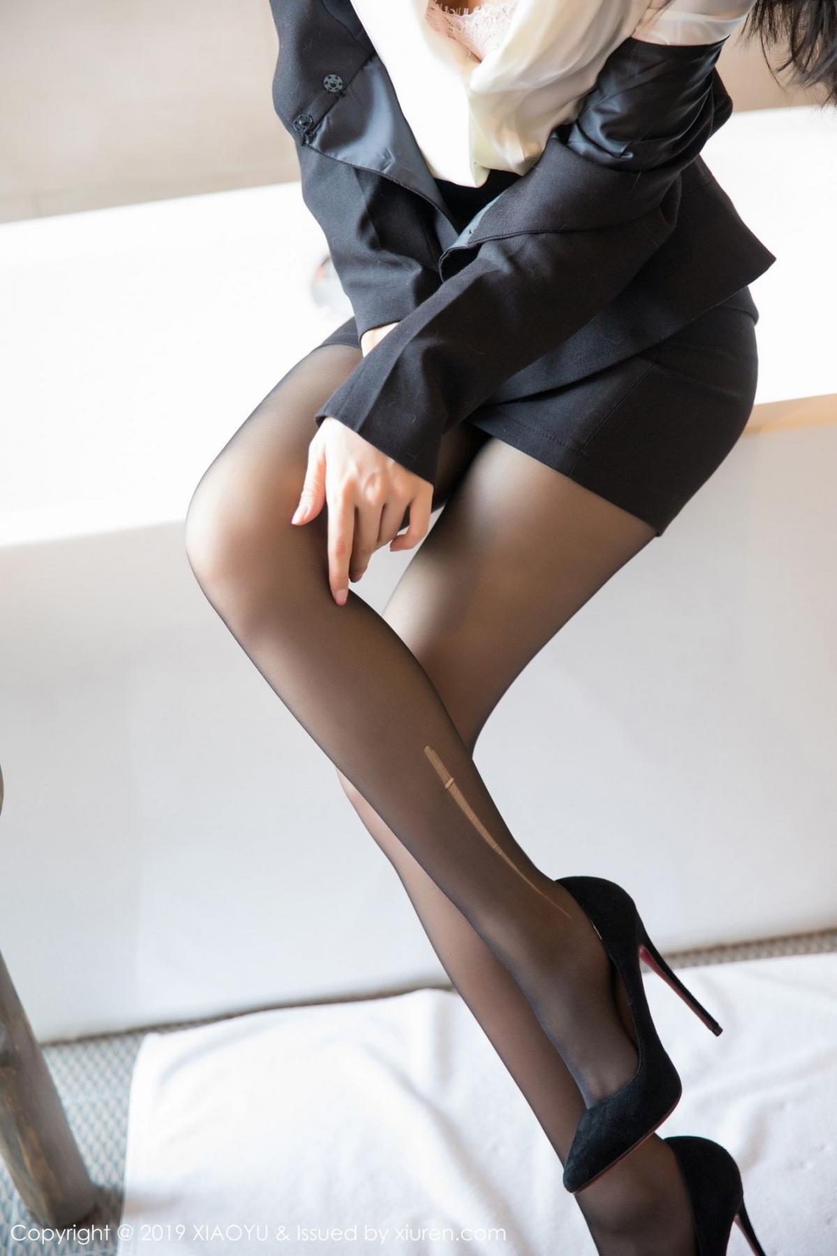 [XiaoYu] Vol.098 Di Yi 22P, Black Silk, Di Yi, Uniform, XiaoYu