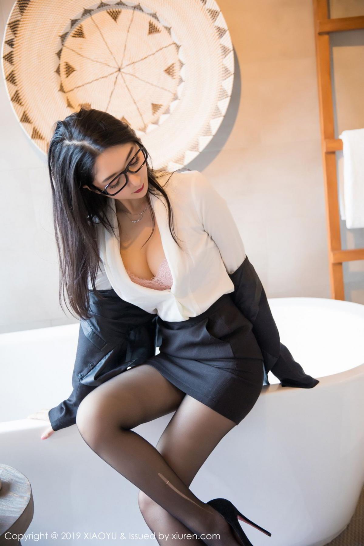 [XiaoYu] Vol.098 Di Yi 24P, Black Silk, Di Yi, Uniform, XiaoYu