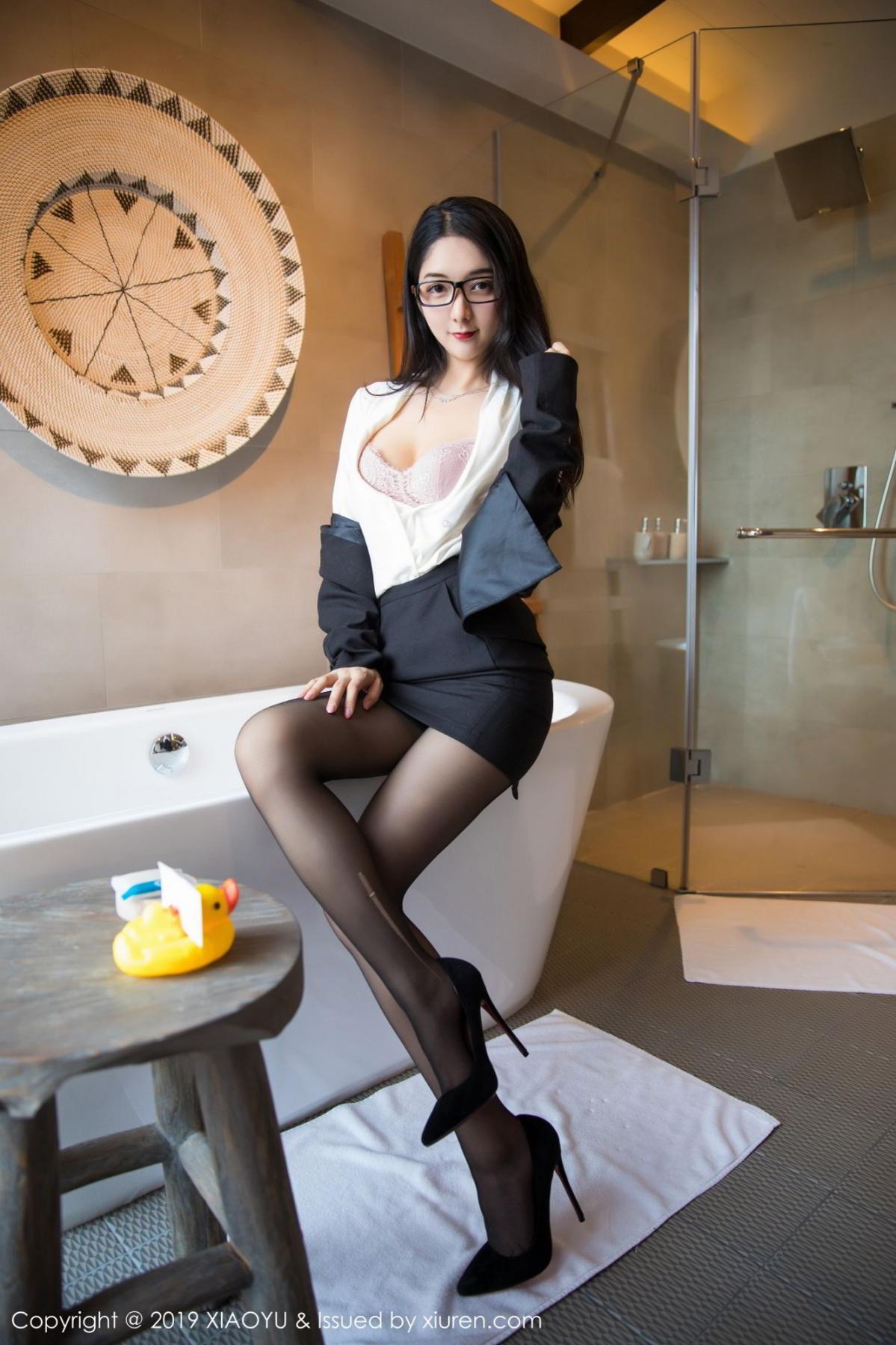 [XiaoYu] Vol.098 Di Yi 28P, Black Silk, Di Yi, Uniform, XiaoYu