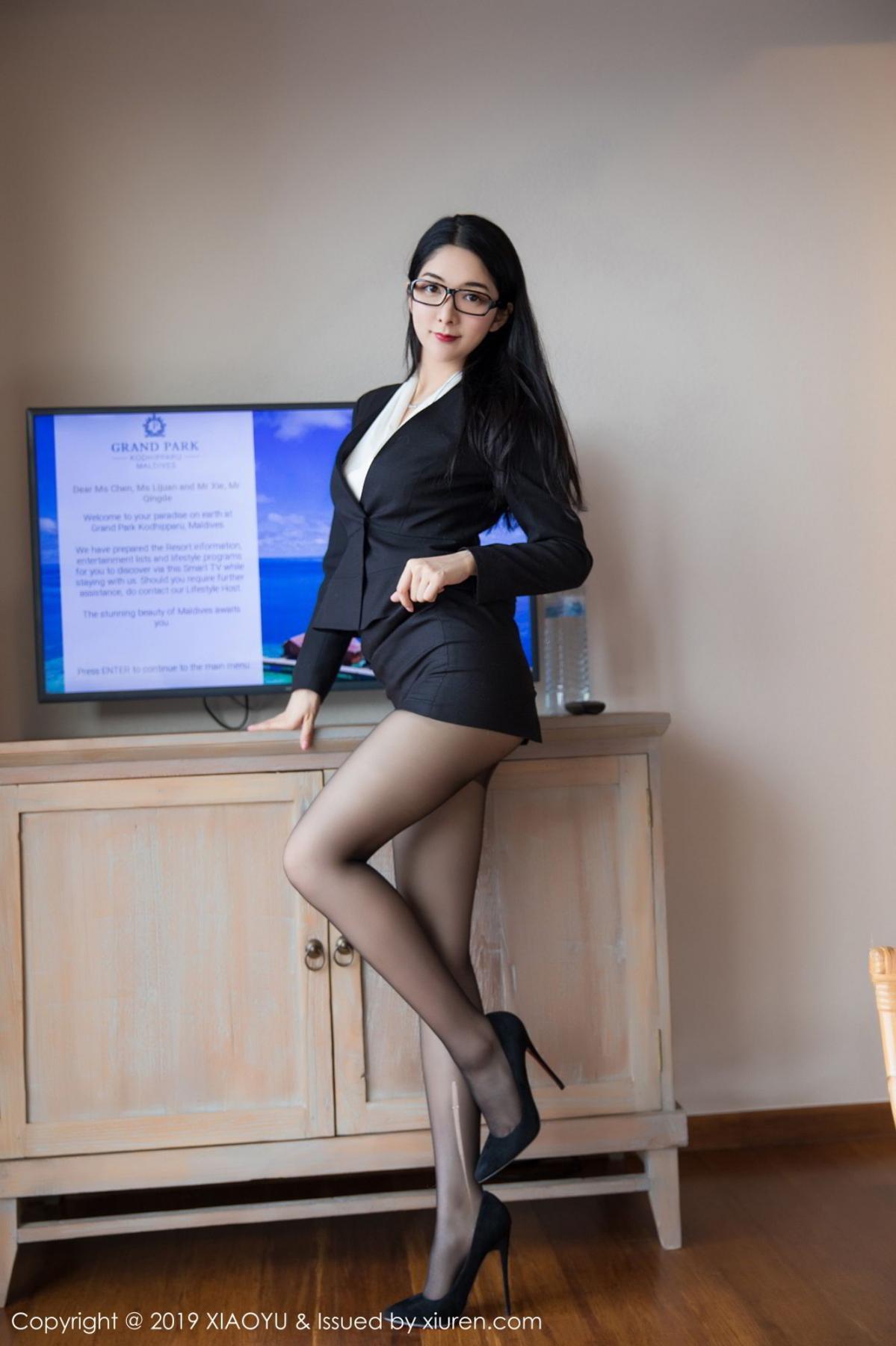 [XiaoYu] Vol.098 Di Yi 2P, Black Silk, Di Yi, Uniform, XiaoYu