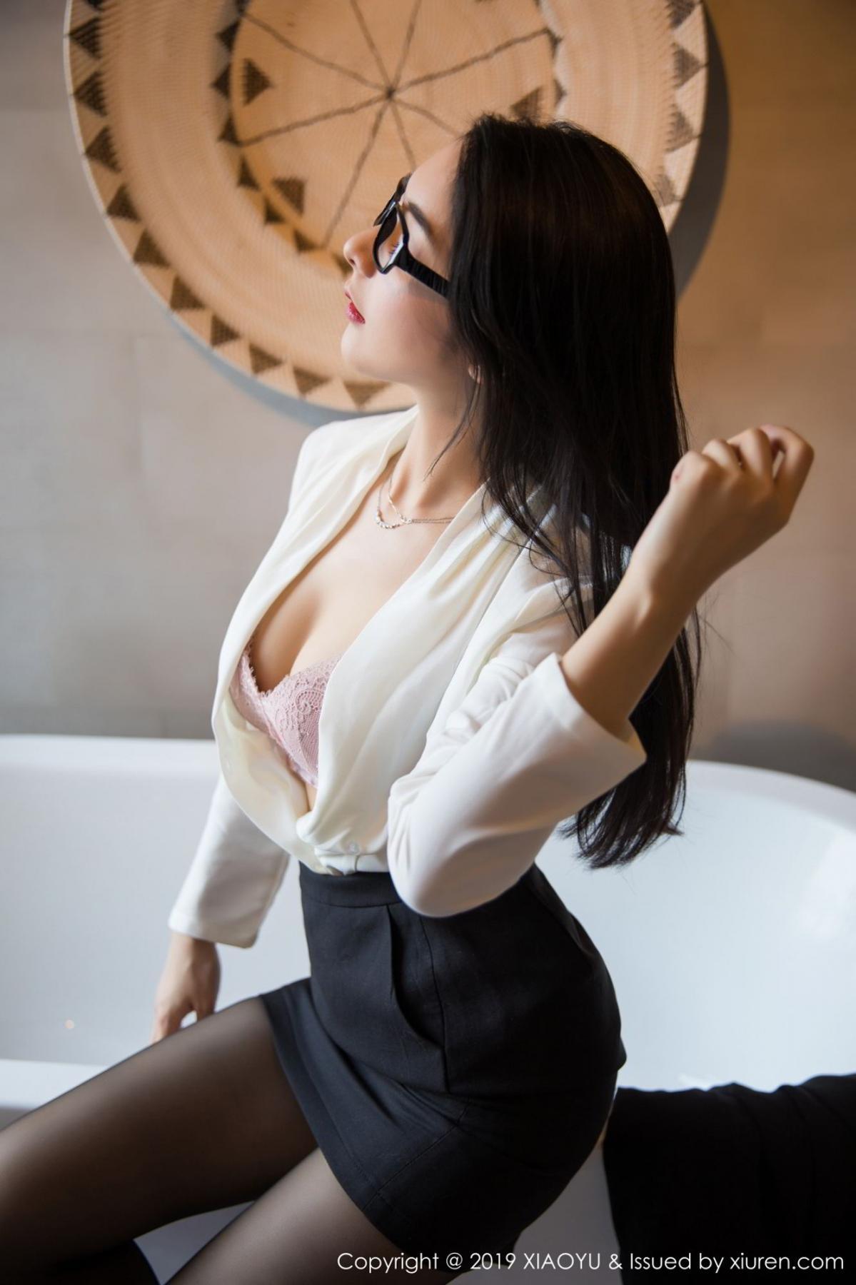 [XiaoYu] Vol.098 Di Yi 30P, Black Silk, Di Yi, Uniform, XiaoYu