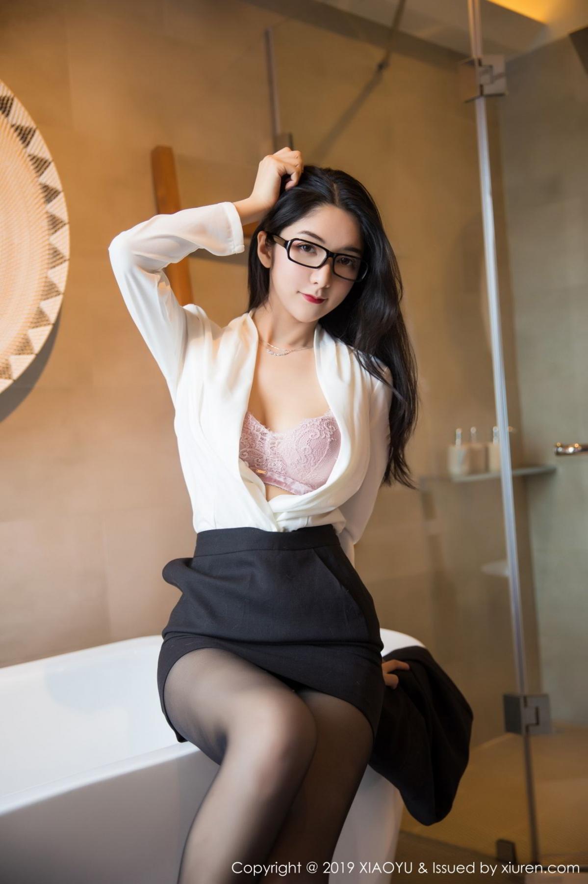 [XiaoYu] Vol.098 Di Yi 32P, Black Silk, Di Yi, Uniform, XiaoYu