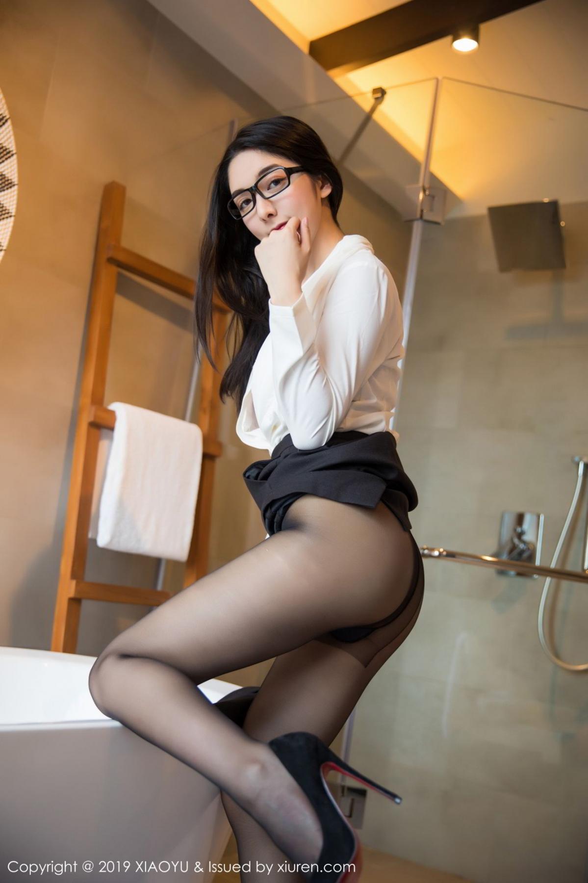 [XiaoYu] Vol.098 Di Yi 34P, Black Silk, Di Yi, Uniform, XiaoYu