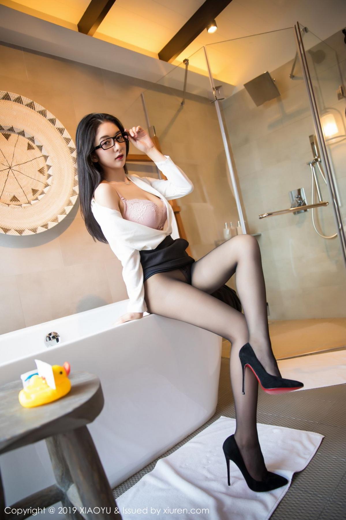 [XiaoYu] Vol.098 Di Yi 39P, Black Silk, Di Yi, Uniform, XiaoYu