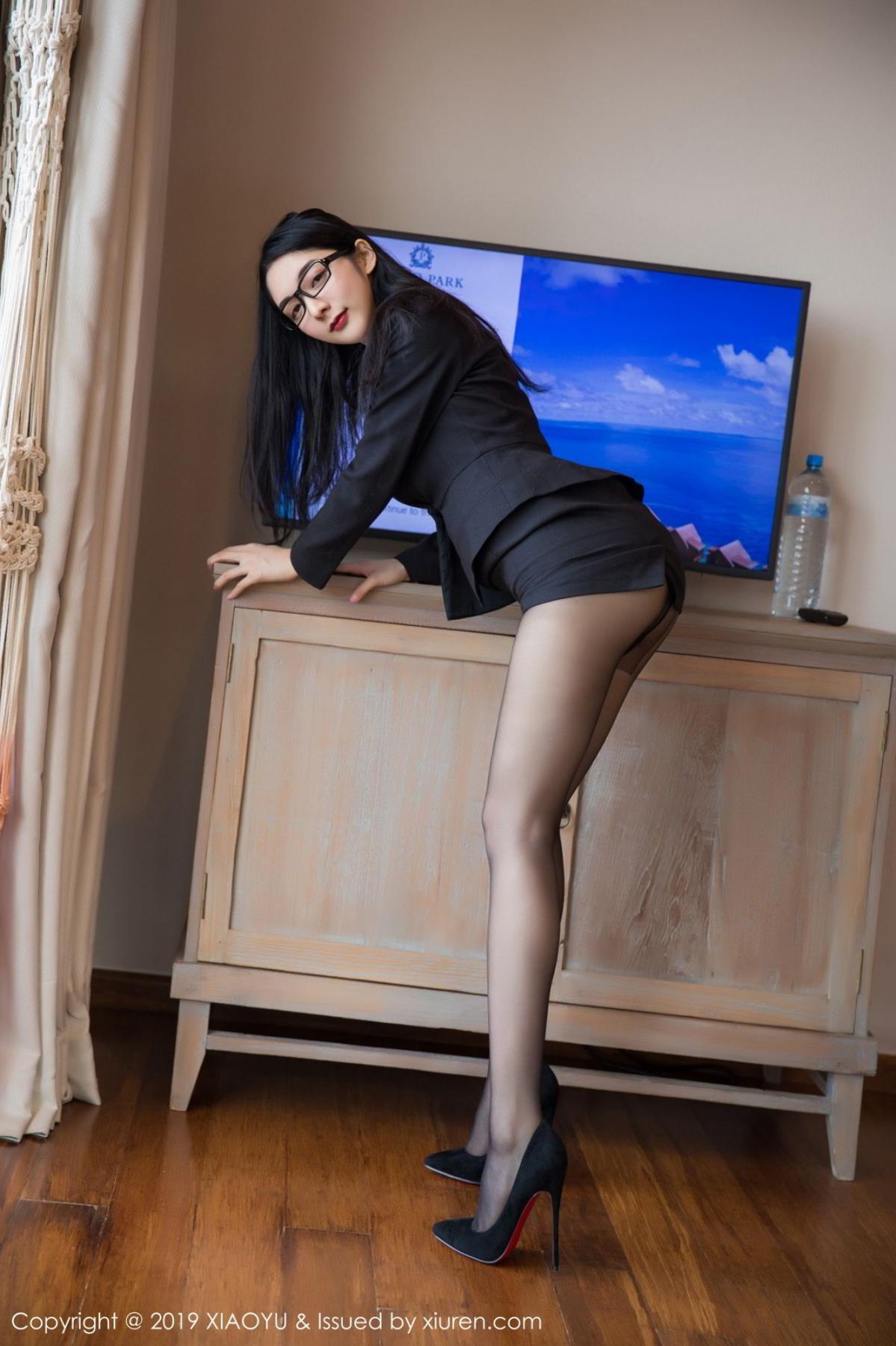 [XiaoYu] Vol.098 Di Yi 3P, Black Silk, Di Yi, Uniform, XiaoYu