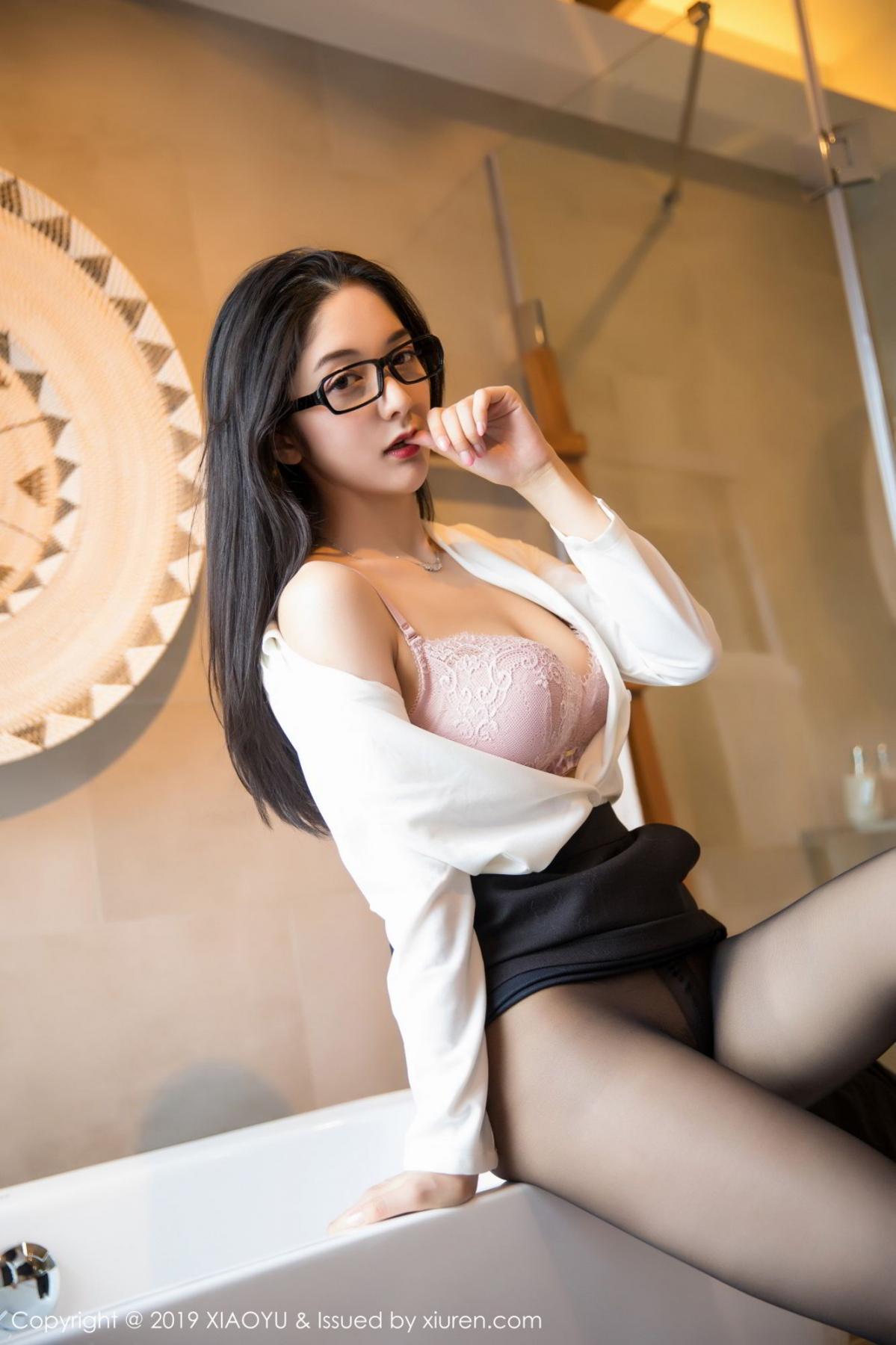 [XiaoYu] Vol.098 Di Yi 40P, Black Silk, Di Yi, Uniform, XiaoYu