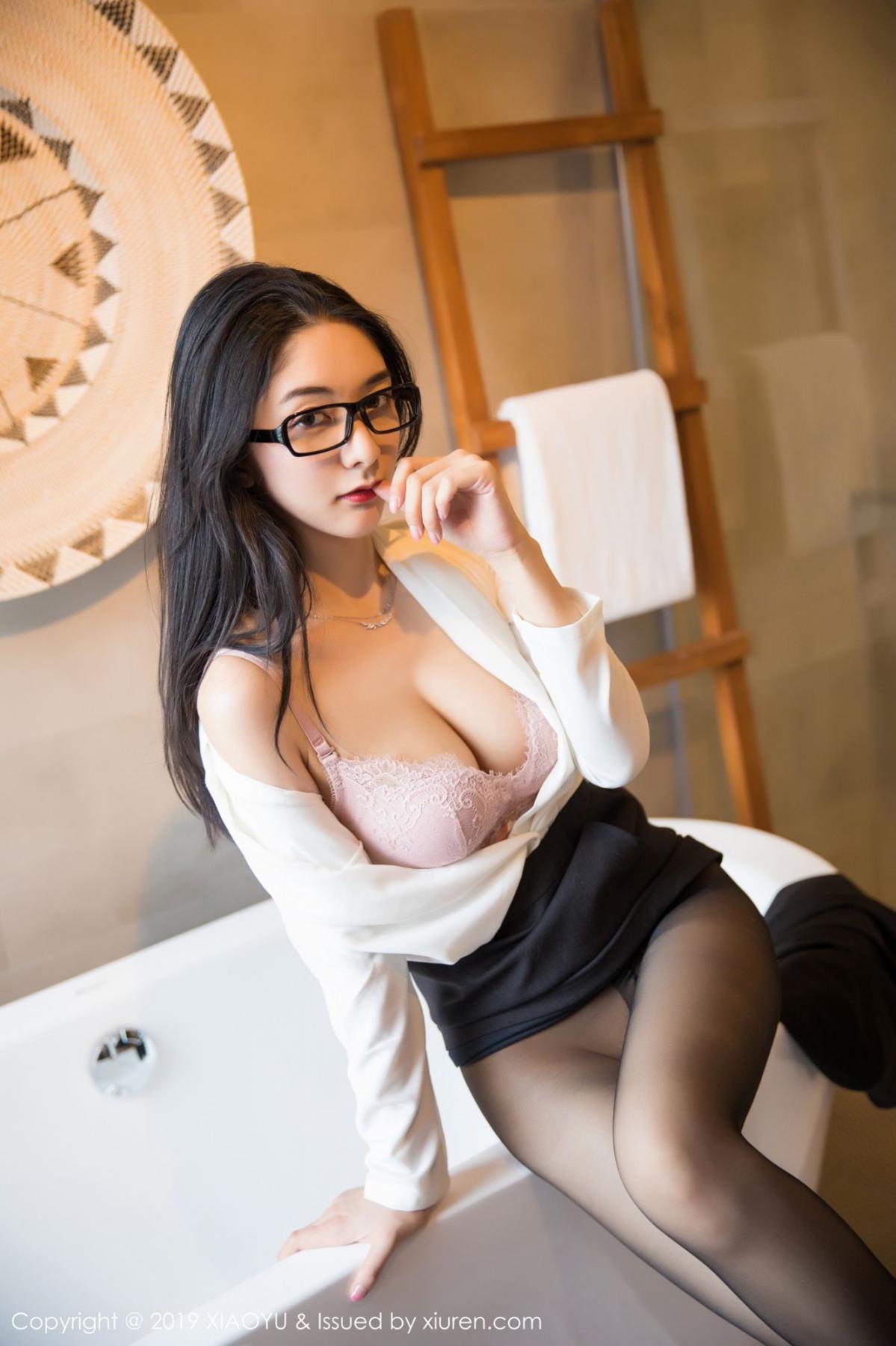[XiaoYu] Vol.098 Di Yi 42P, Black Silk, Di Yi, Uniform, XiaoYu