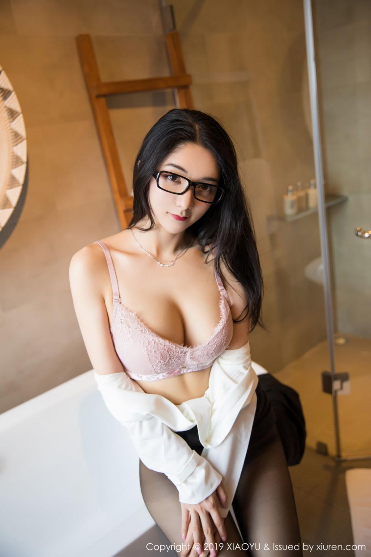 [XiaoYu] Vol.098 Di Yi 52P, Black Silk, Di Yi, Uniform, XiaoYu