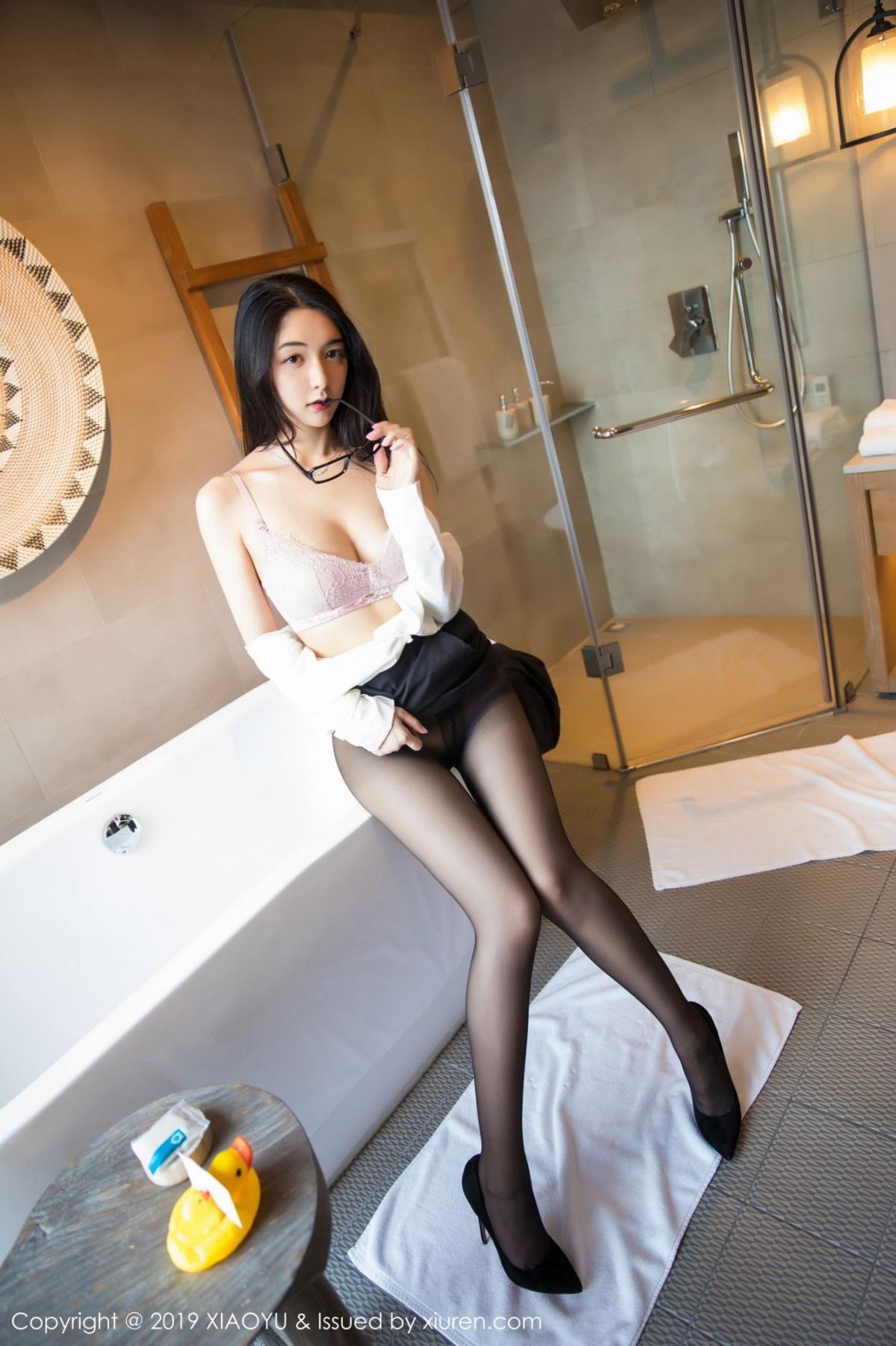 [XiaoYu] Vol.098 Di Yi 55P, Black Silk, Di Yi, Uniform, XiaoYu