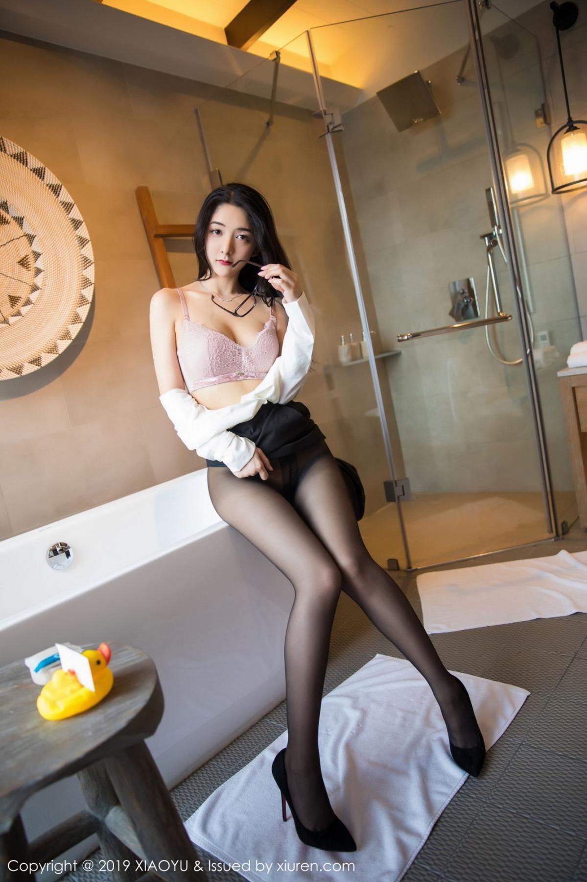 [XiaoYu] Vol.098 Di Yi 56P, Black Silk, Di Yi, Uniform, XiaoYu