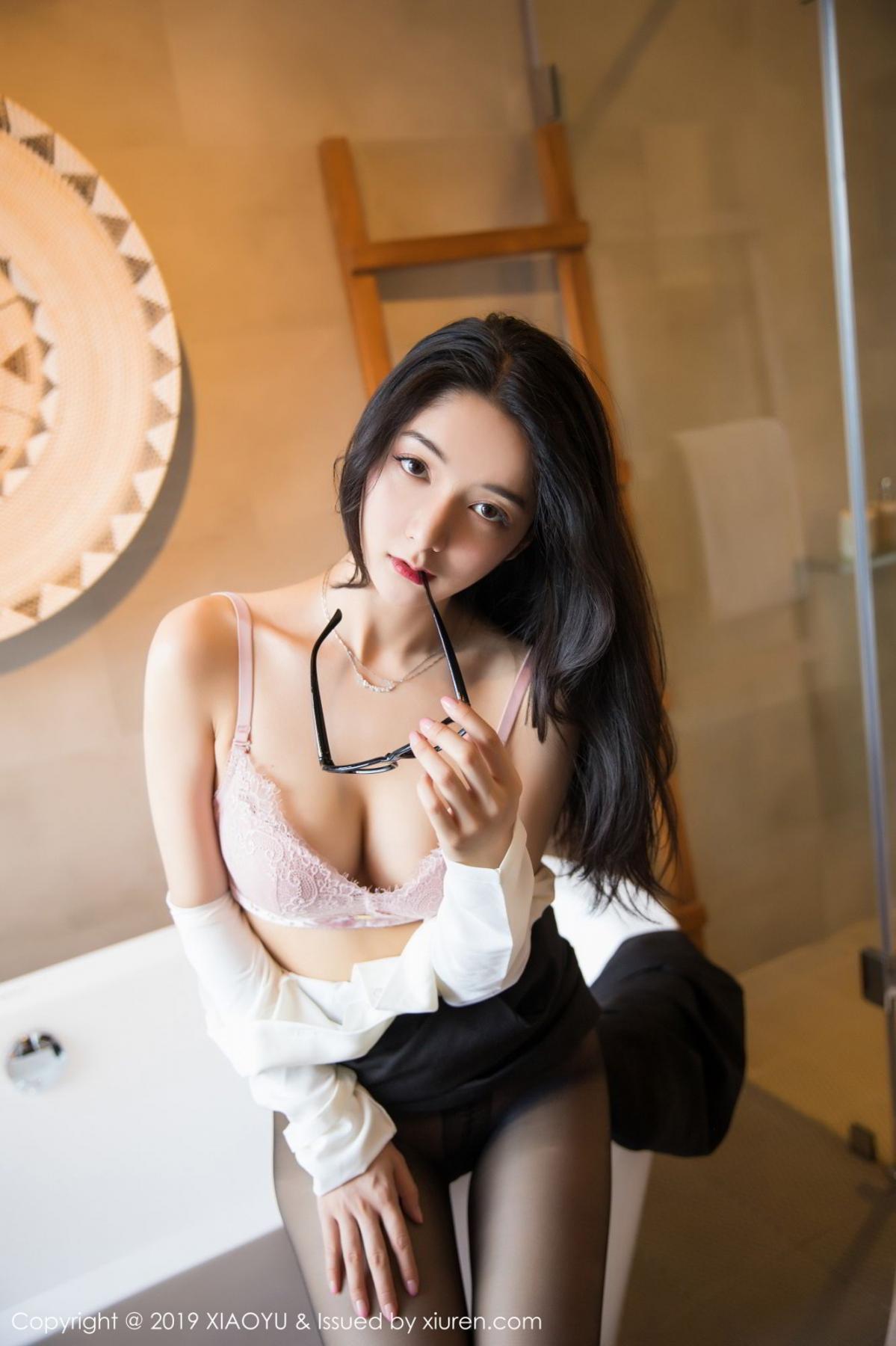 [XiaoYu] Vol.098 Di Yi 57P, Black Silk, Di Yi, Uniform, XiaoYu