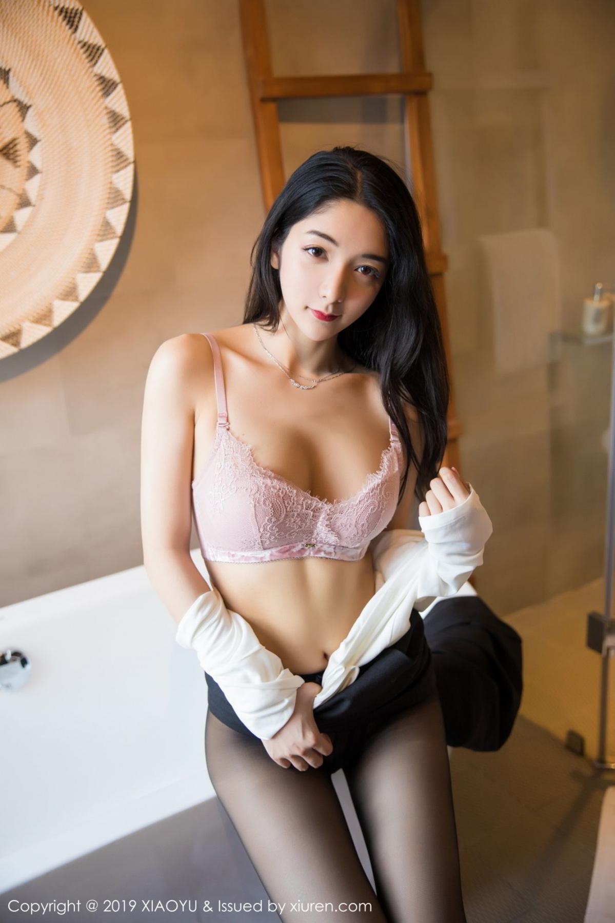 [XiaoYu] Vol.098 Di Yi 61P, Black Silk, Di Yi, Uniform, XiaoYu