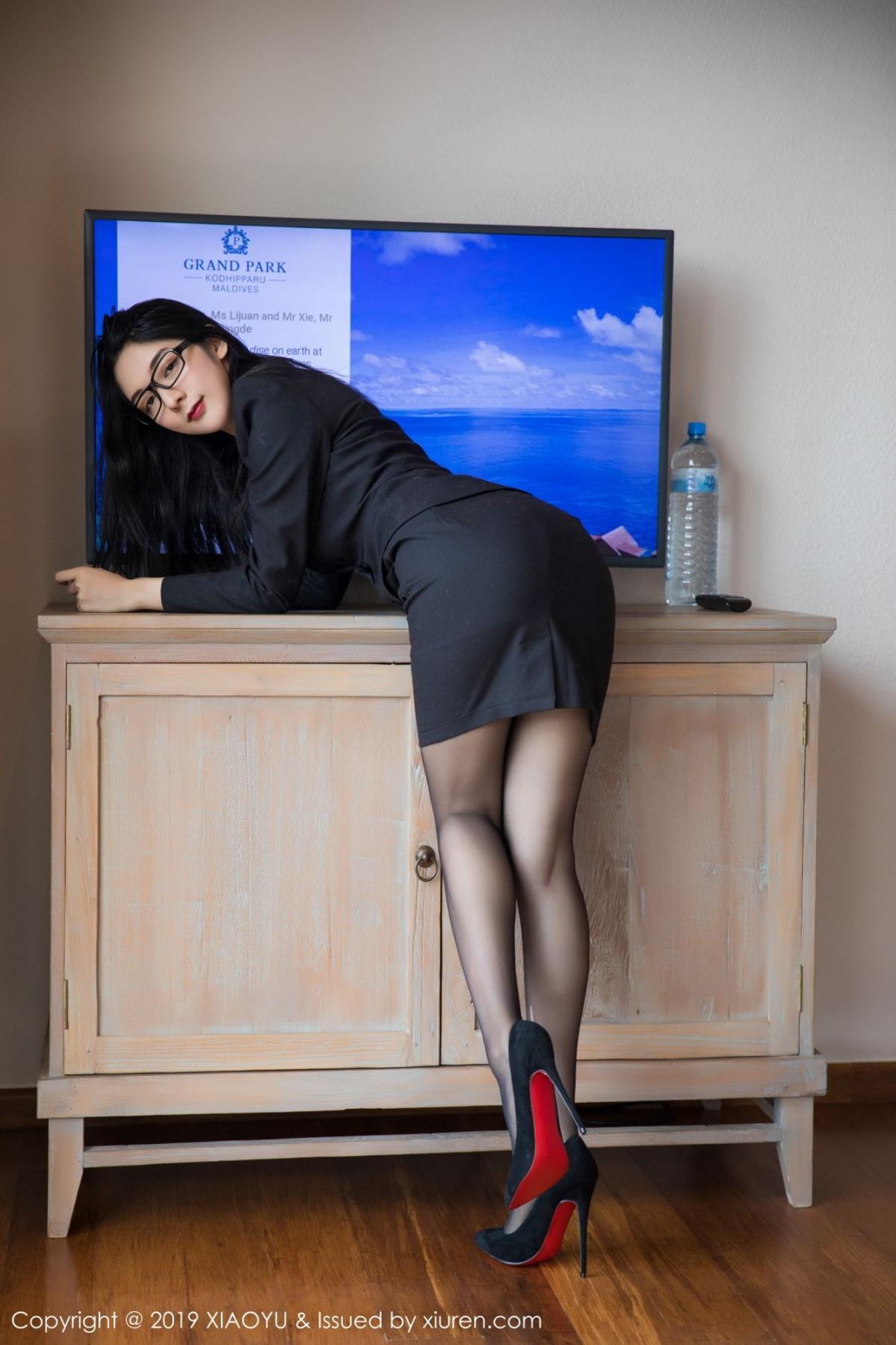 [XiaoYu] Vol.098 Di Yi 6P, Black Silk, Di Yi, Uniform, XiaoYu