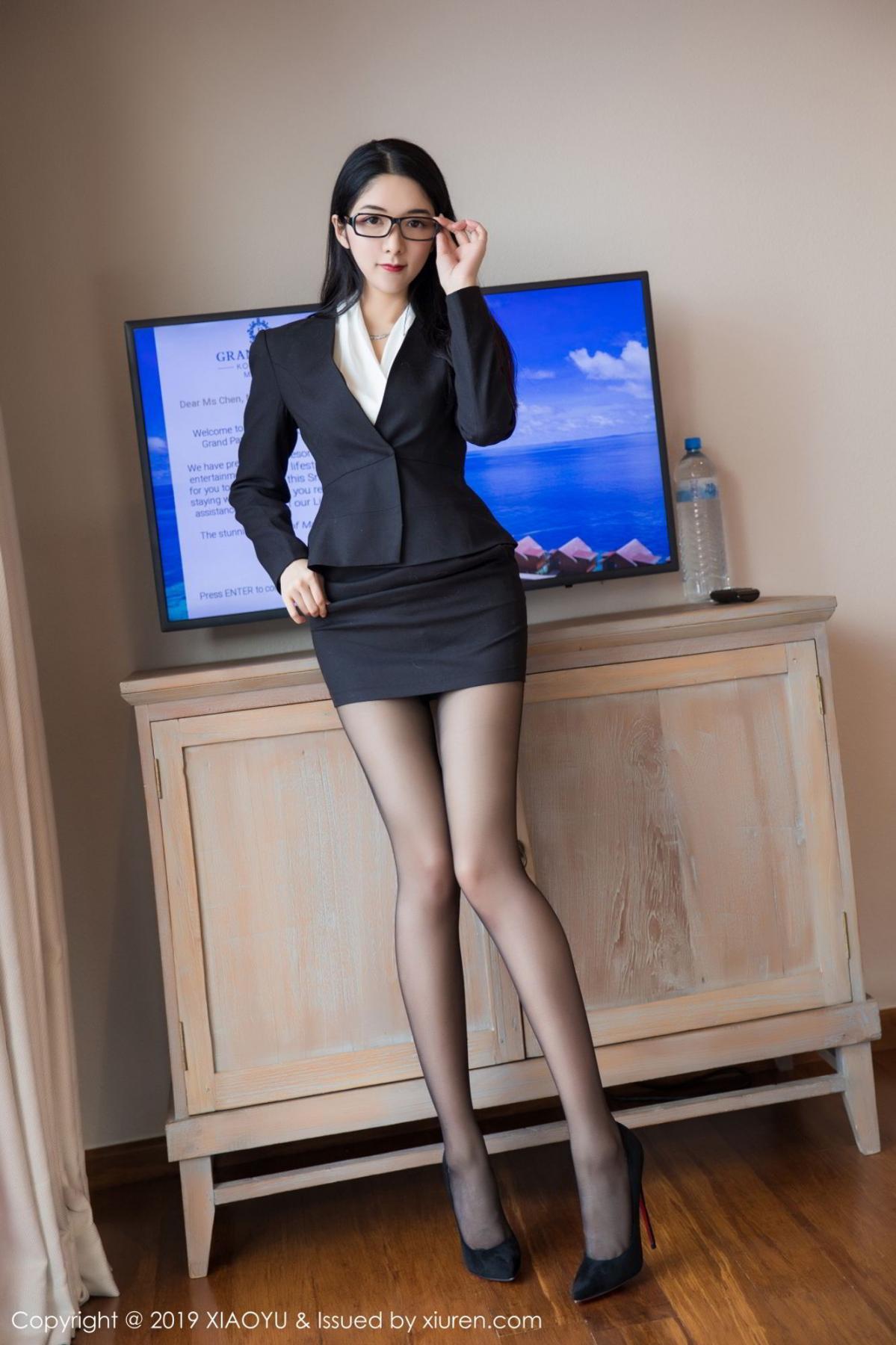 [XiaoYu] Vol.098 Di Yi 8P, Black Silk, Di Yi, Uniform, XiaoYu