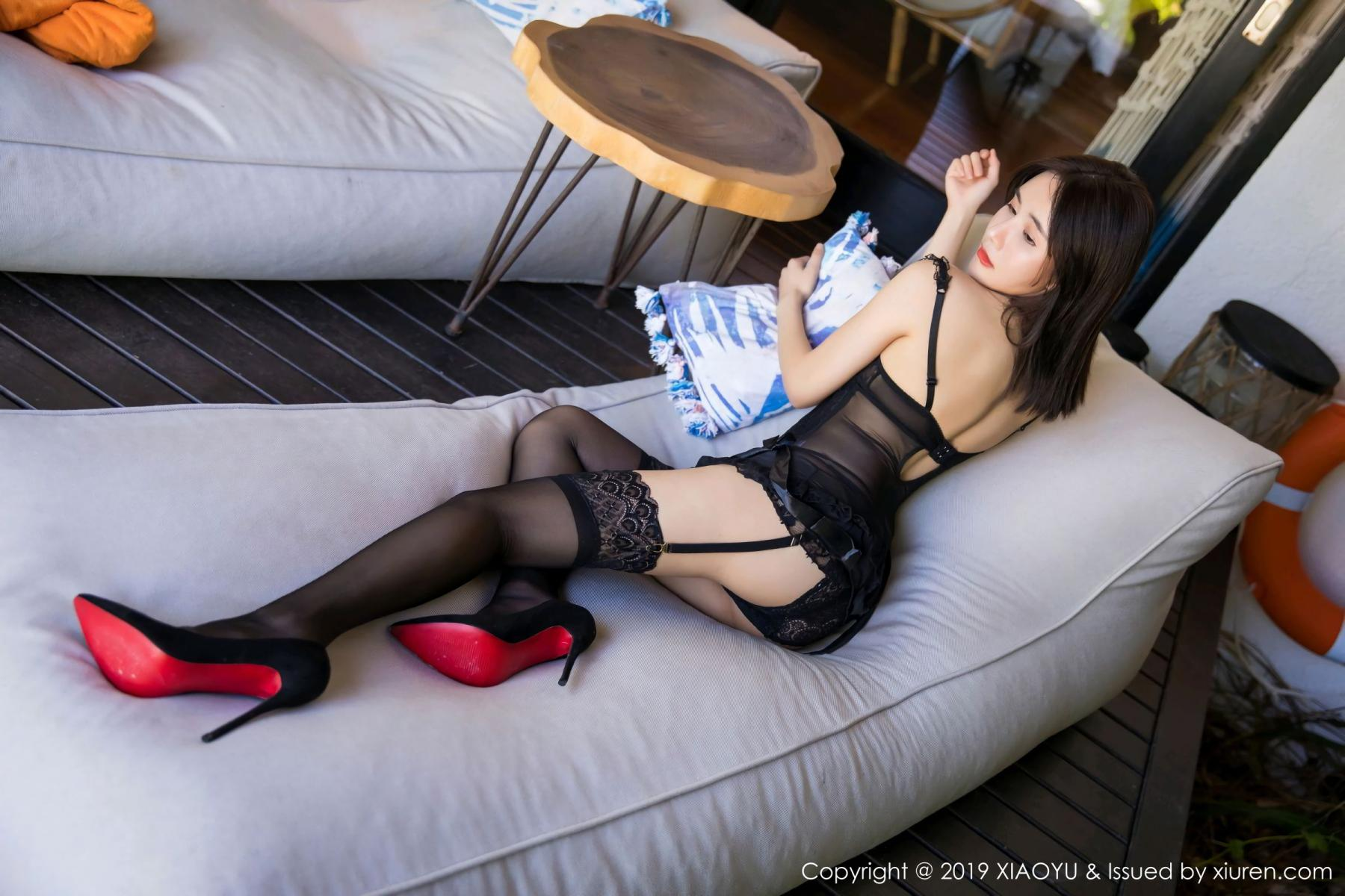 [XiaoYu] Vol.102 Lin Lin A I L I N 11P, Black Silk, Lin Lin Ailin, Tall, XiaoYu