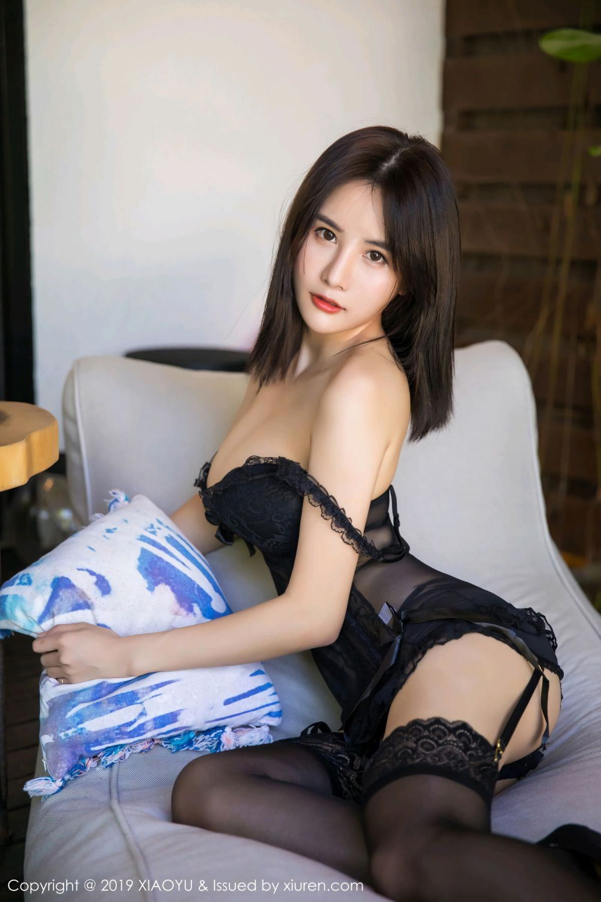 [XiaoYu] Vol.102 Lin Lin A I L I N 13P, Black Silk, Lin Lin Ailin, Tall, XiaoYu