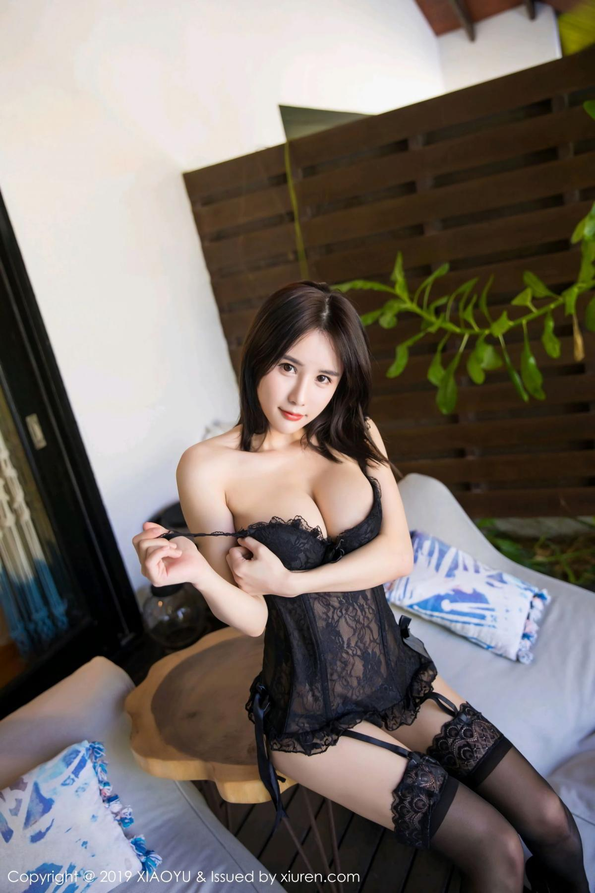 [XiaoYu] Vol.102 Lin Lin A I L I N 37P, Black Silk, Lin Lin Ailin, Tall, XiaoYu