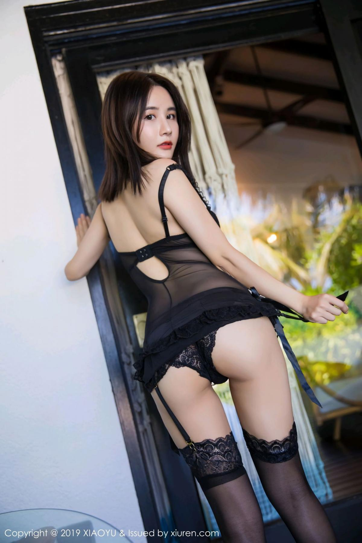 [XiaoYu] Vol.102 Lin Lin A I L I N 45P, Black Silk, Lin Lin Ailin, Tall, XiaoYu