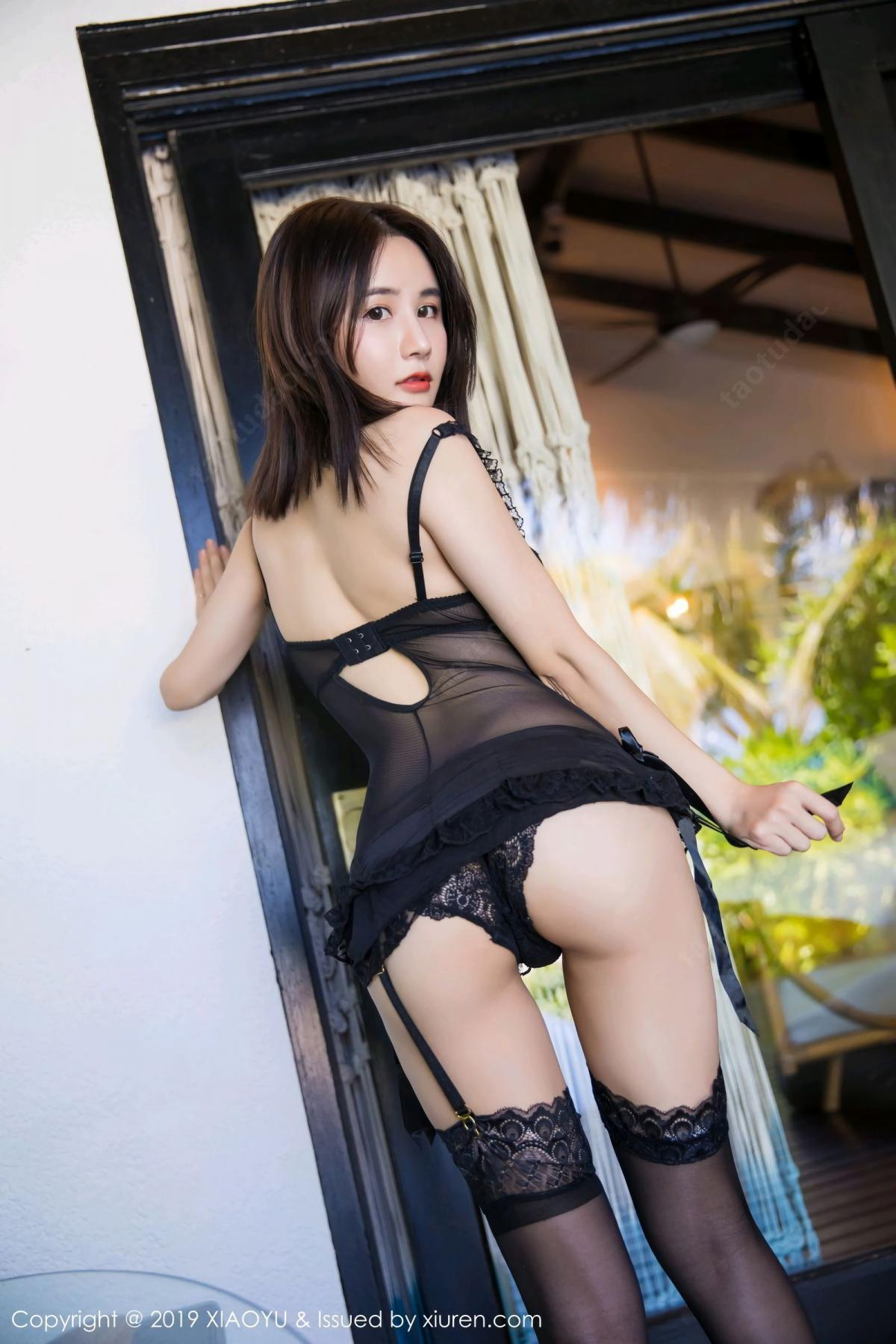 [XiaoYu] Vol.102 Lin Lin A I L I N 46P, Black Silk, Lin Lin Ailin, Tall, XiaoYu