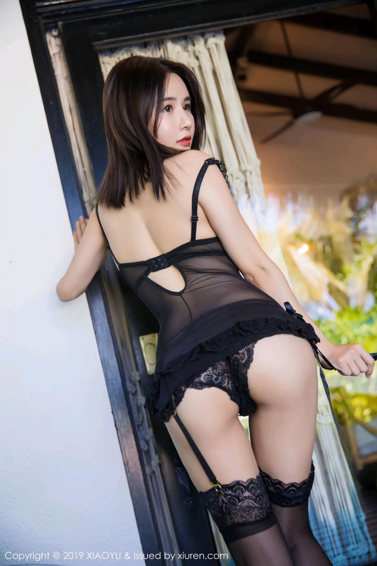 [XiaoYu] Vol.102 Lin Lin A I L I N 47P, Black Silk, Lin Lin Ailin, Tall, XiaoYu