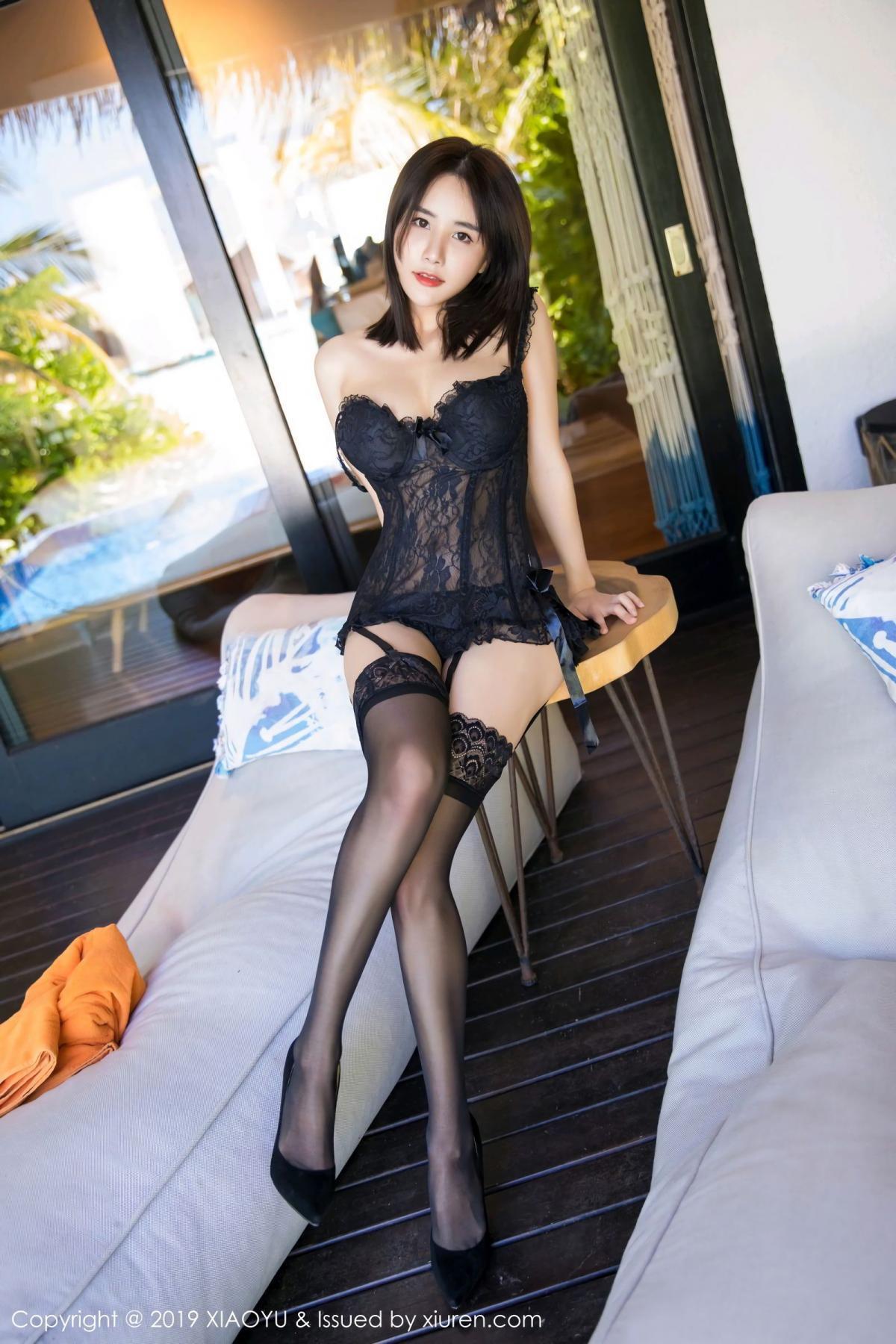 [XiaoYu] Vol.102 Lin Lin A I L I N 5P, Black Silk, Lin Lin Ailin, Tall, XiaoYu
