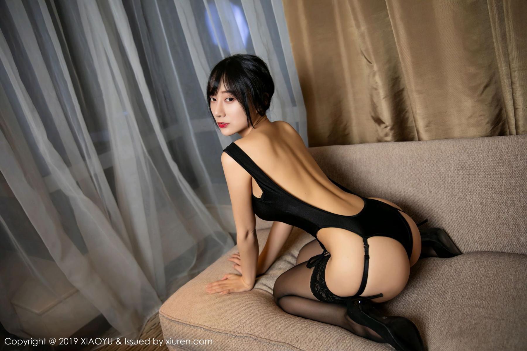 [XiaoYu] Vol.107 He Jia Ying 28P, Black Silk, He Jia Ying, Tall, XiaoYu