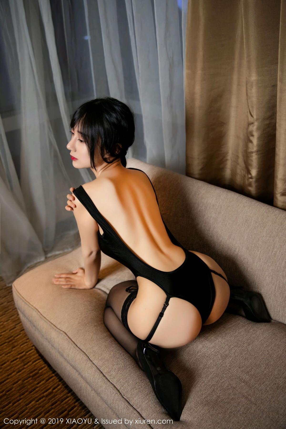 [XiaoYu] Vol.107 He Jia Ying 29P, Black Silk, He Jia Ying, Tall, XiaoYu