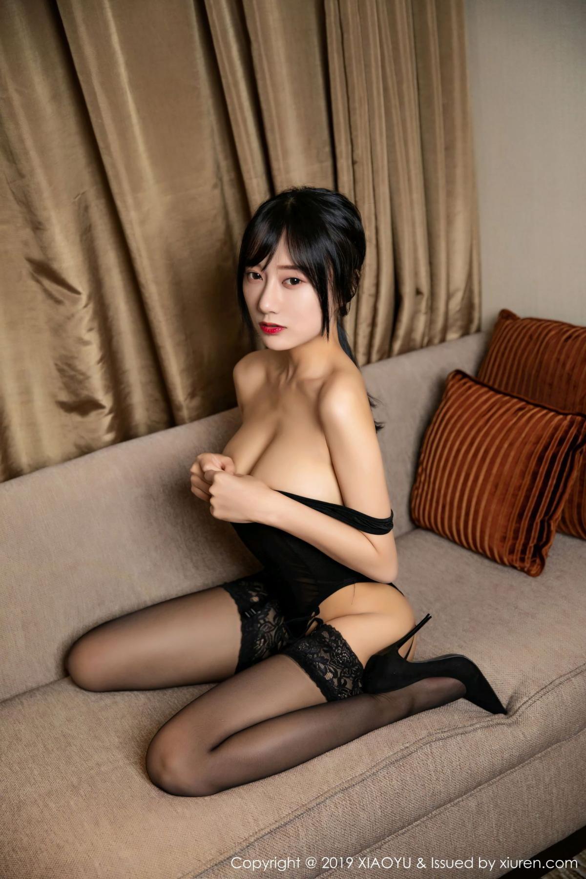 [XiaoYu] Vol.107 He Jia Ying 31P, Black Silk, He Jia Ying, Tall, XiaoYu