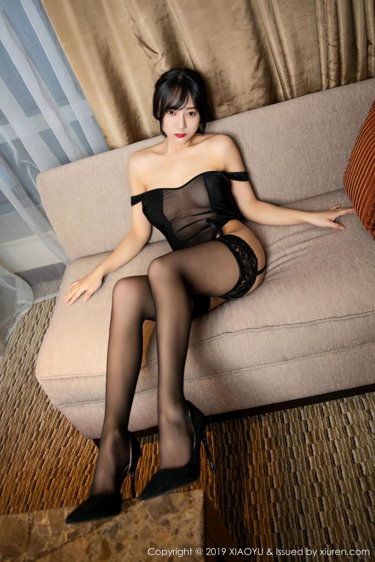 [XiaoYu] Vol.107 He Jia Ying 39P, Black Silk, He Jia Ying, Tall, XiaoYu