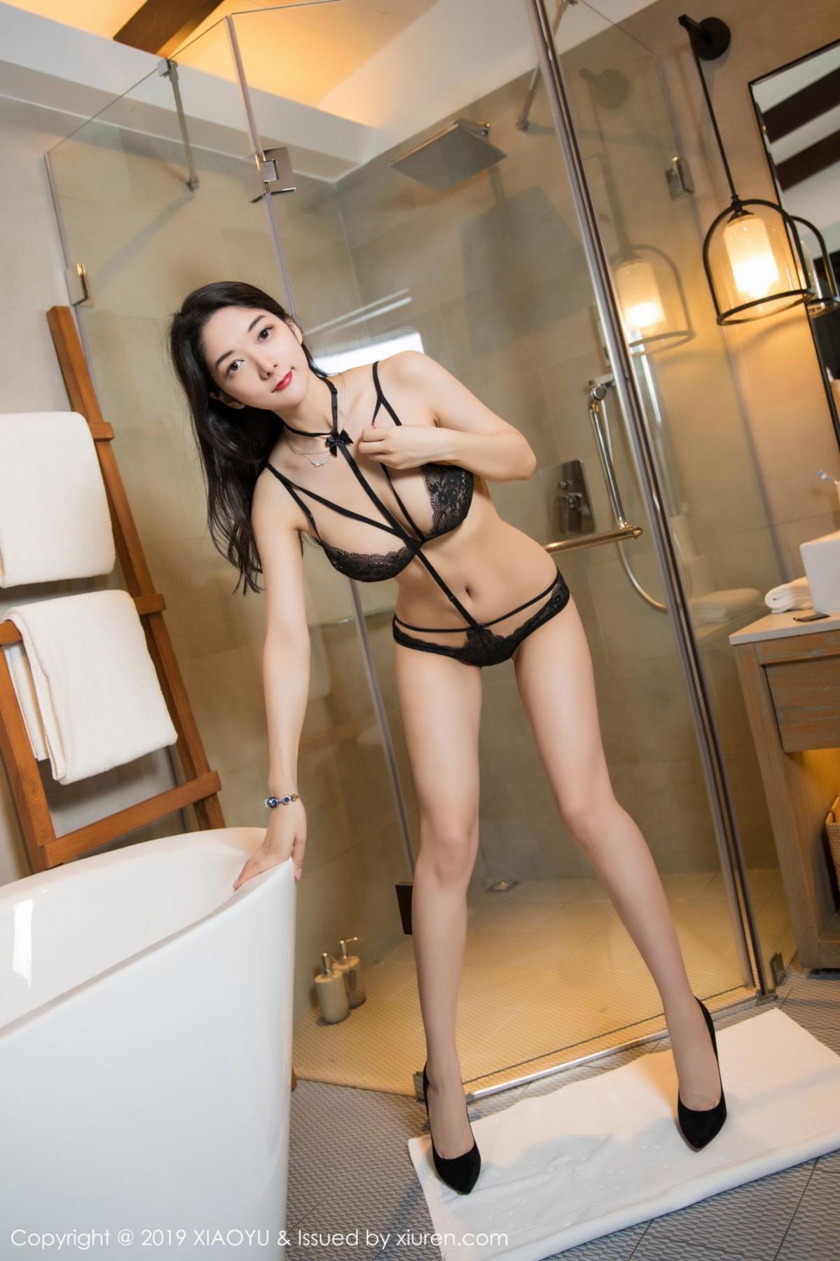 [XiaoYu] Vol.115 Di Yi 34P, Black Silk, Di Yi, Stewardess, Tall, XiaoYu