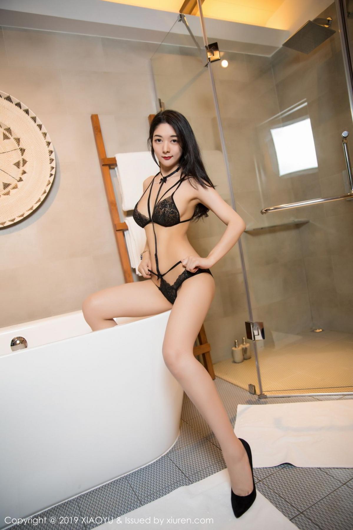 [XiaoYu] Vol.115 Di Yi 40P, Black Silk, Di Yi, Stewardess, Tall, XiaoYu