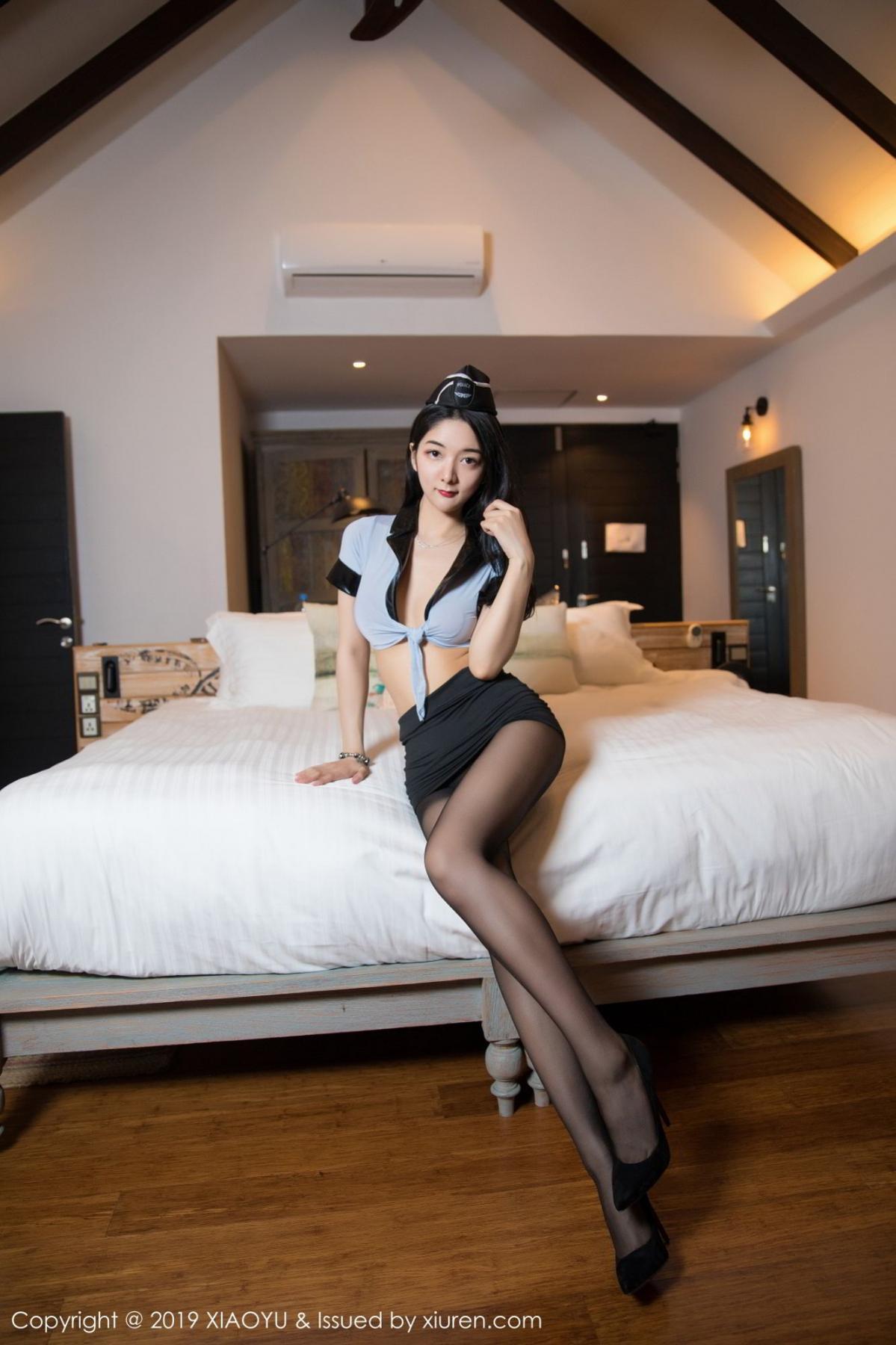 [XiaoYu] Vol.115 Di Yi 6P, Black Silk, Di Yi, Stewardess, Tall, XiaoYu