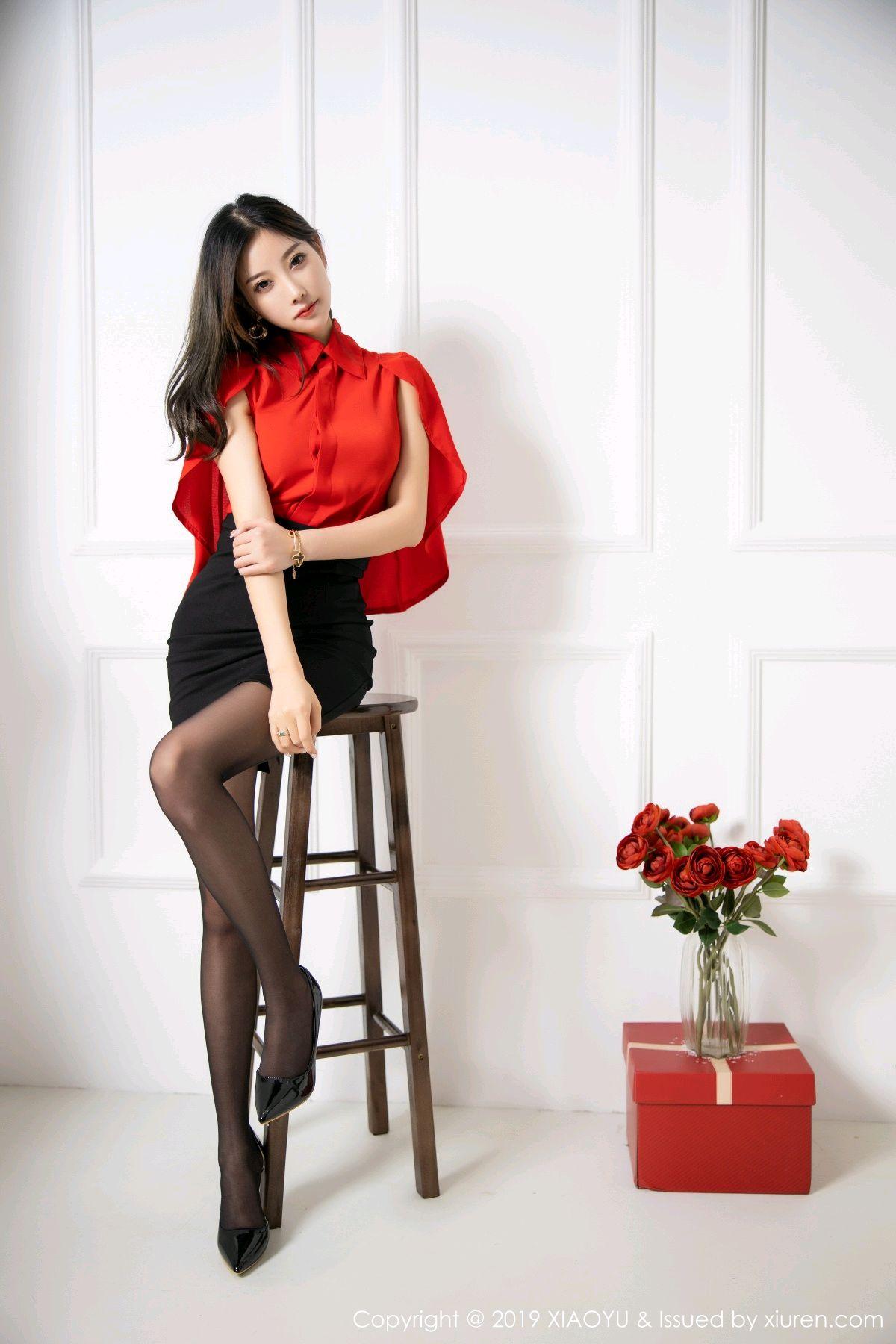 [XiaoYu] Vol.119 Yang Chen Chen 13P, Black Silk, Tall, Temperament, XiaoYu, Yang Chen Chen