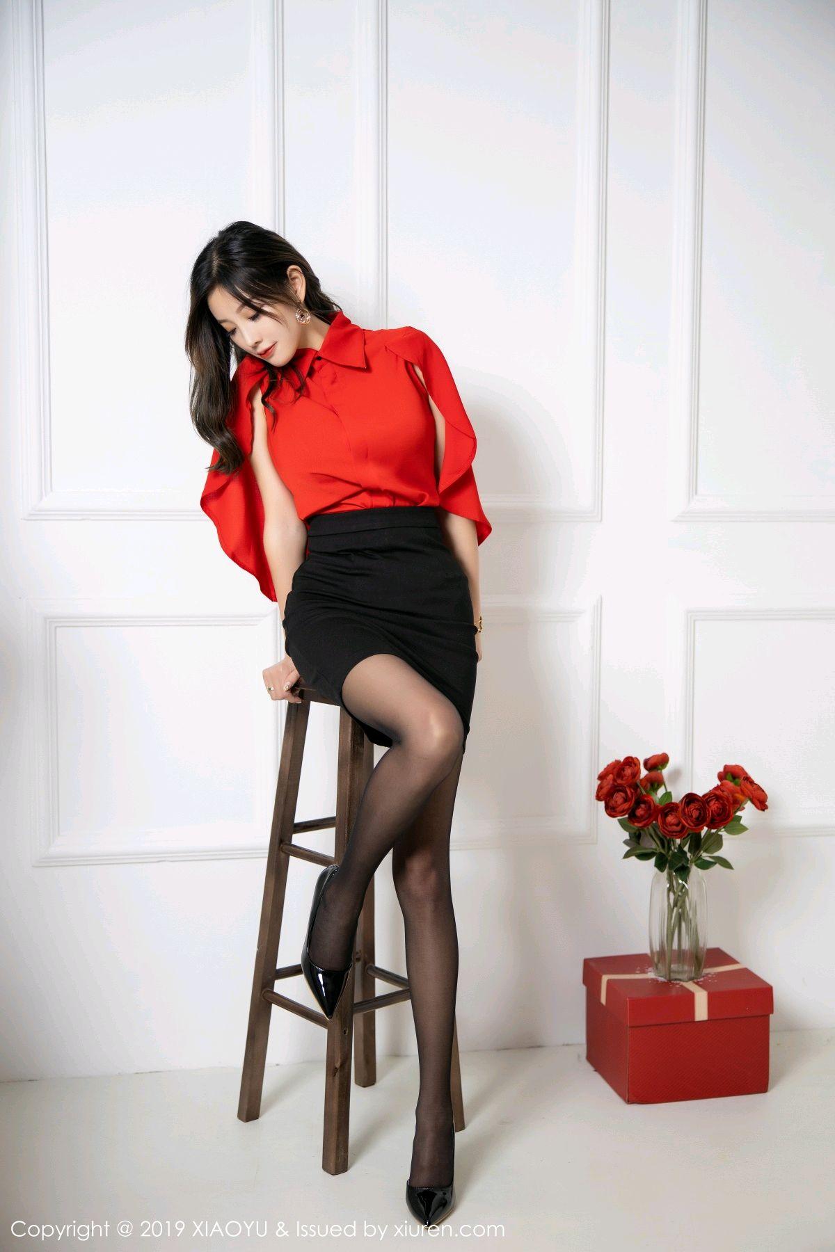 [XiaoYu] Vol.119 Yang Chen Chen 14P, Black Silk, Tall, Temperament, XiaoYu, Yang Chen Chen